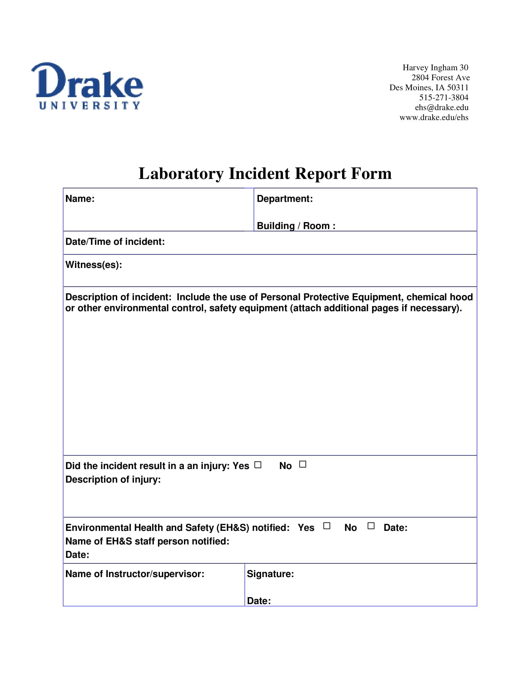 laboratory incident report form 1