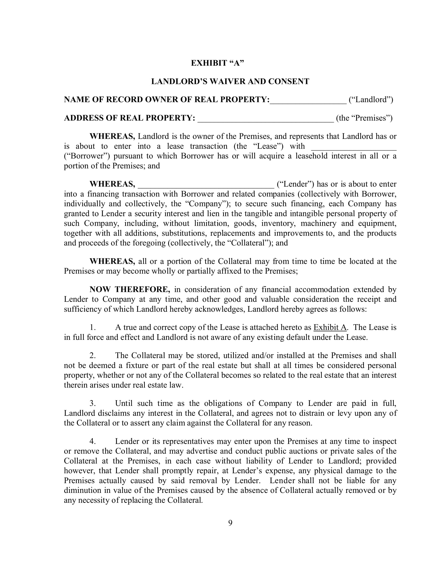 Free 4 Subordination Agreement Forms In Pdf Doc