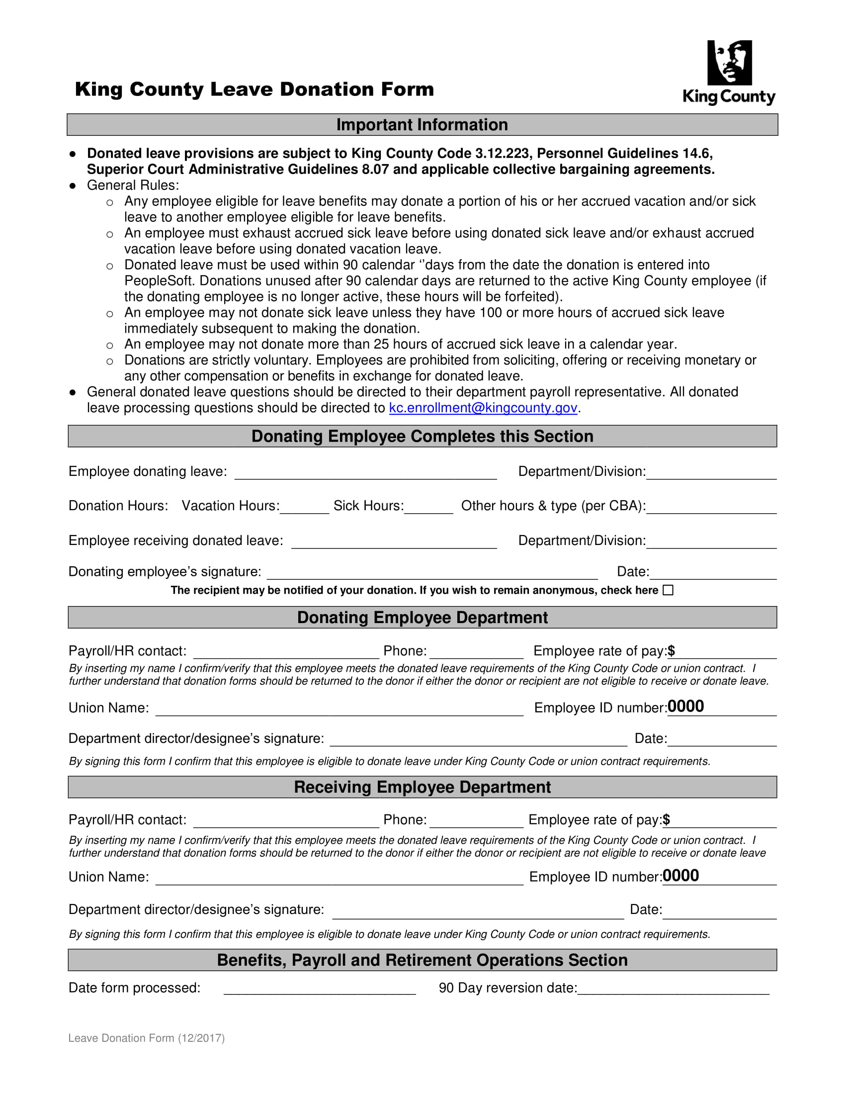leave donation form 1