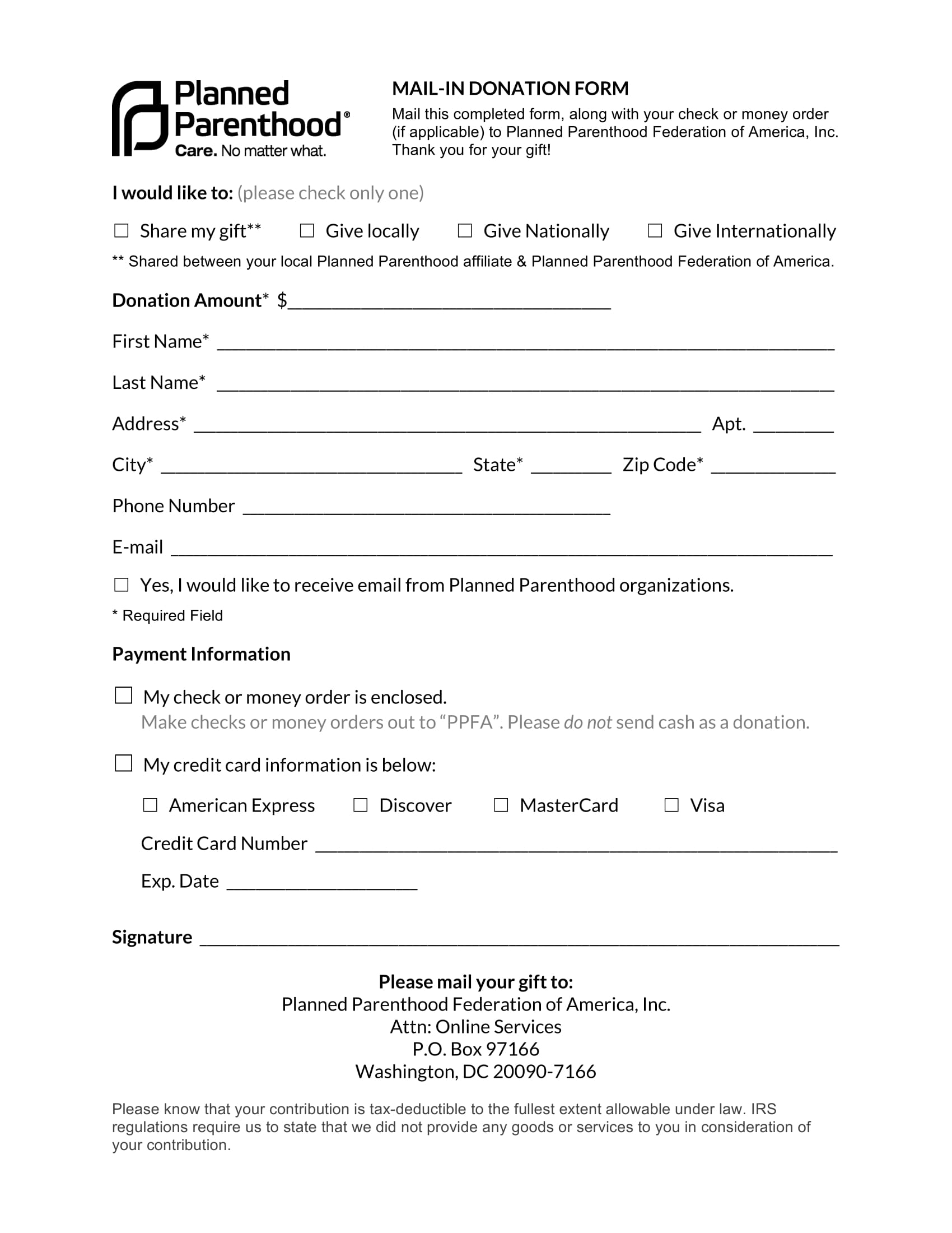 mail in donation form 1