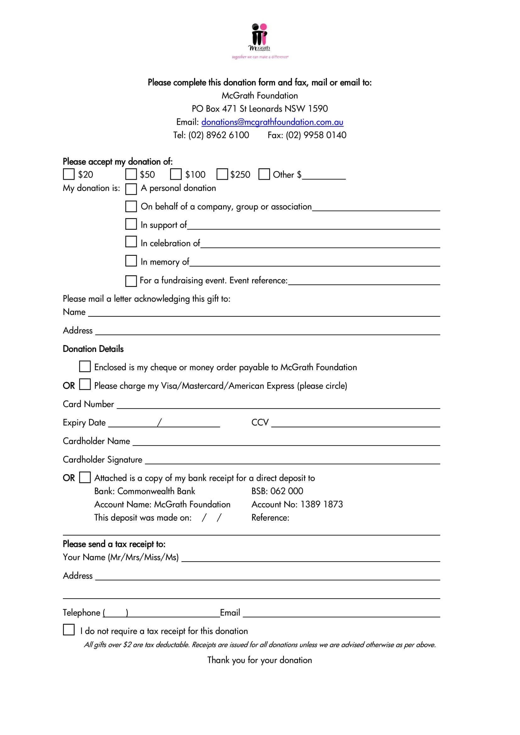 monetary donation form 1