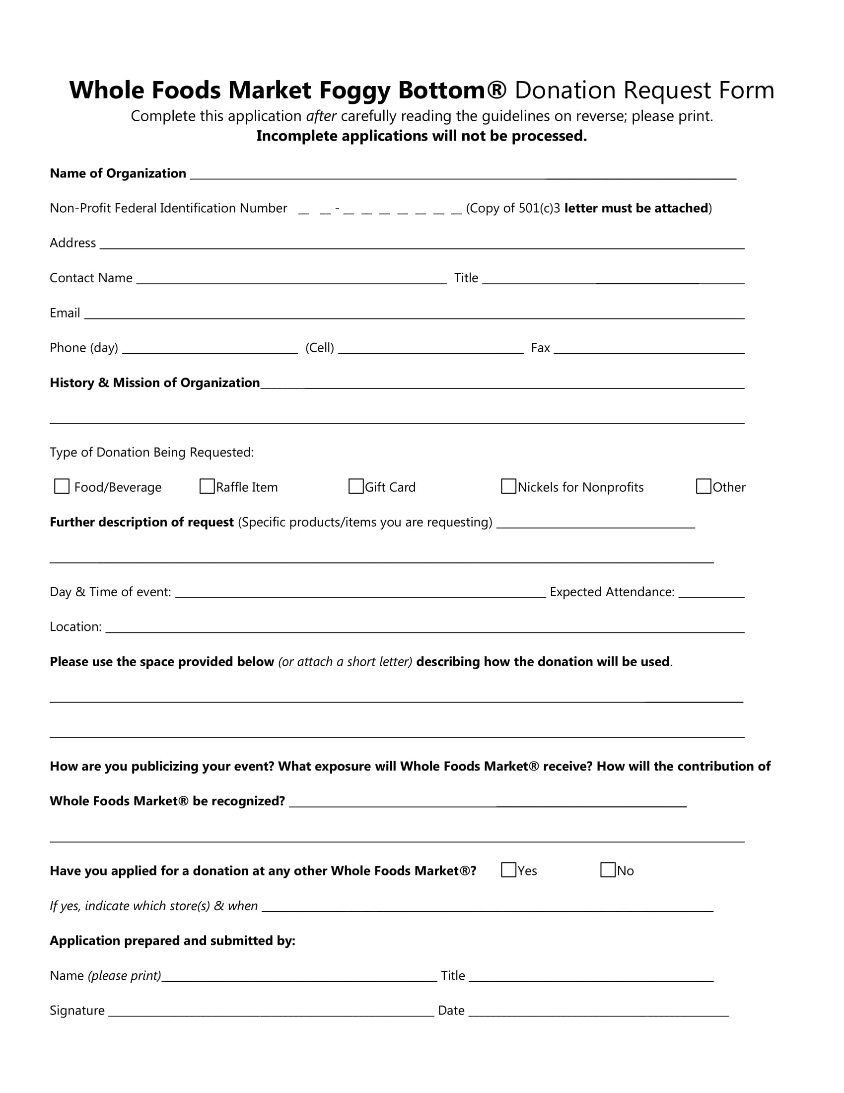 non profit donation request form 2