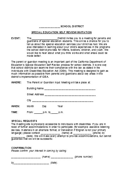parent survey input form
