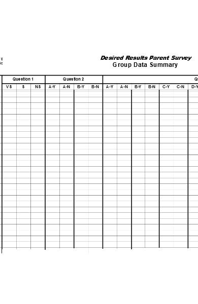 parent survey result form
