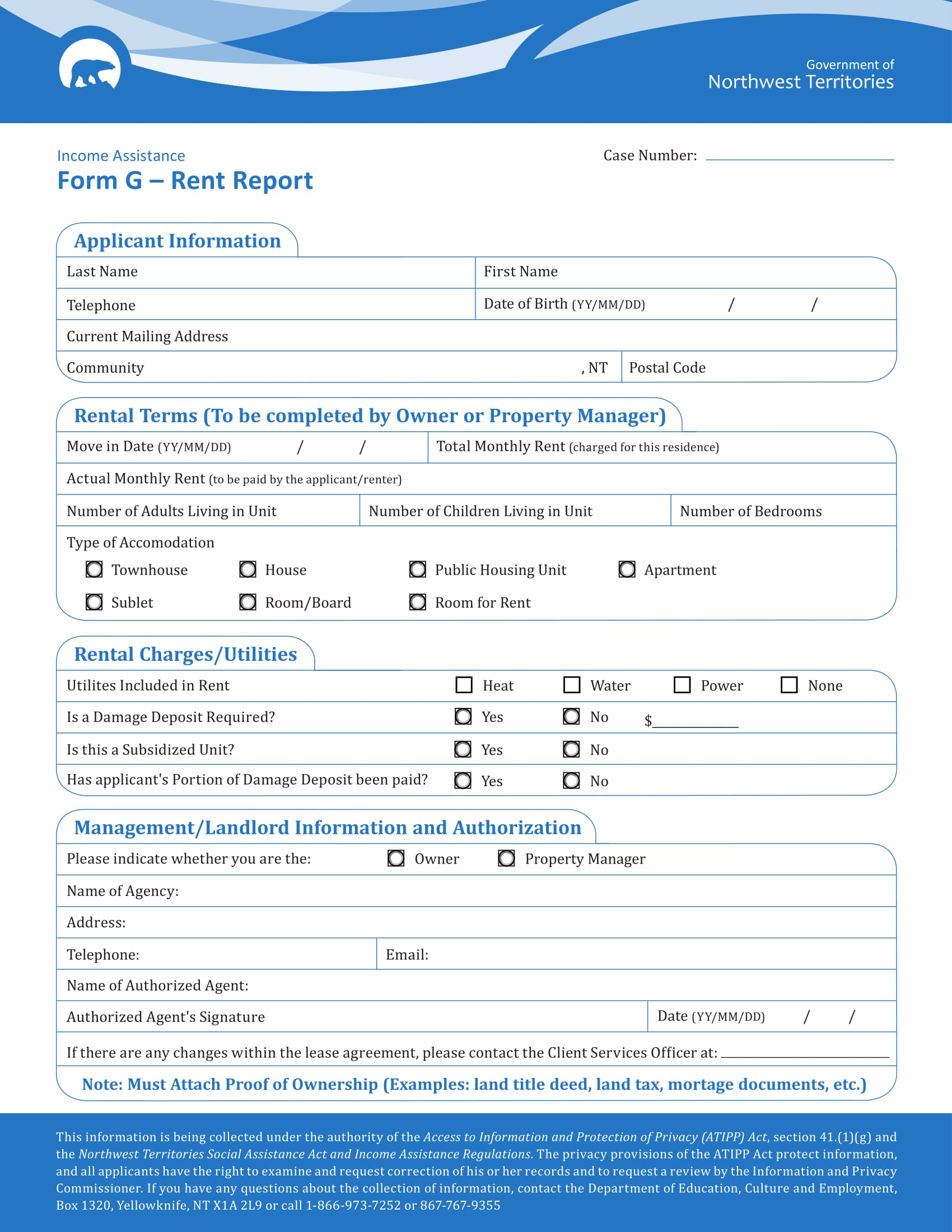free 6  rent report forms