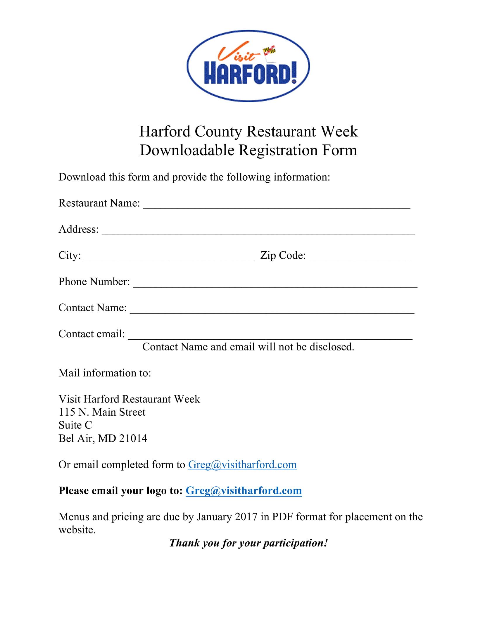 restaurant registration form 1