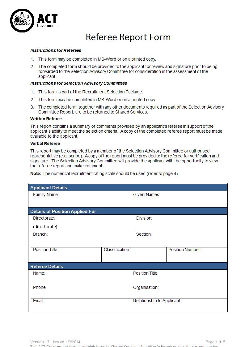 Sample-Referee-Report-Form-in-DOC-1 Job Application Form Format Doc on
