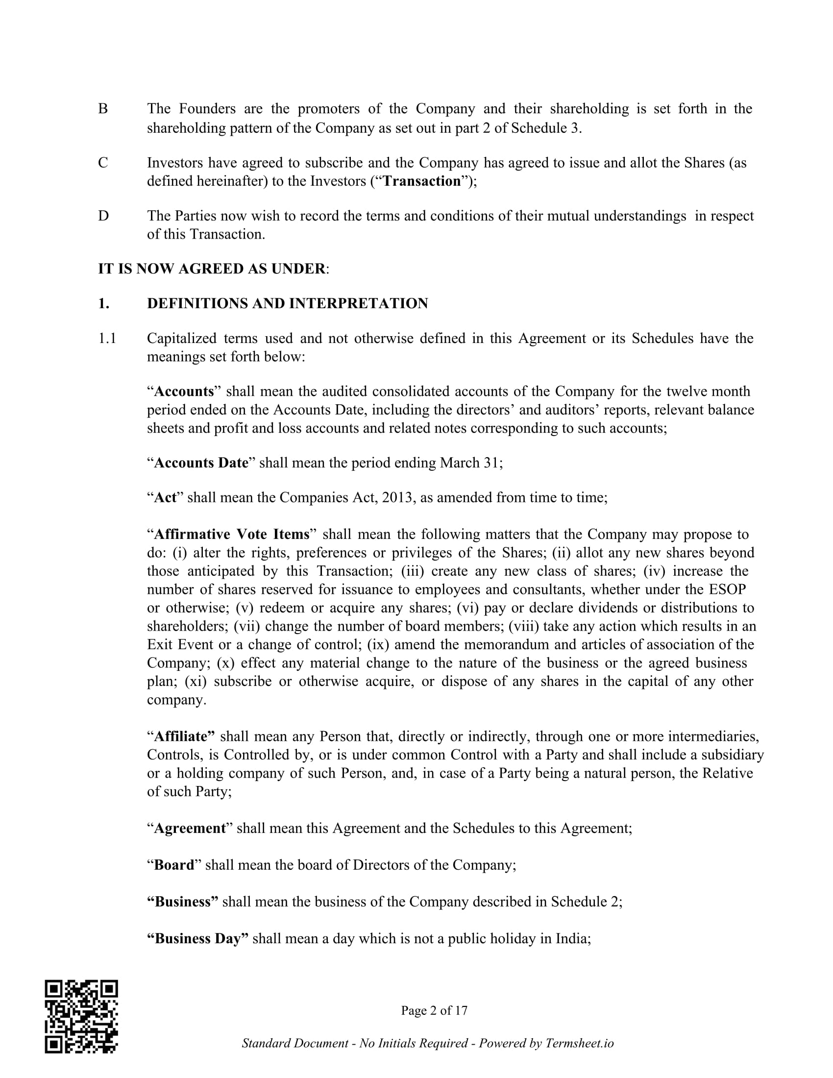 4 Share Subscription Agreement Forms Pdf