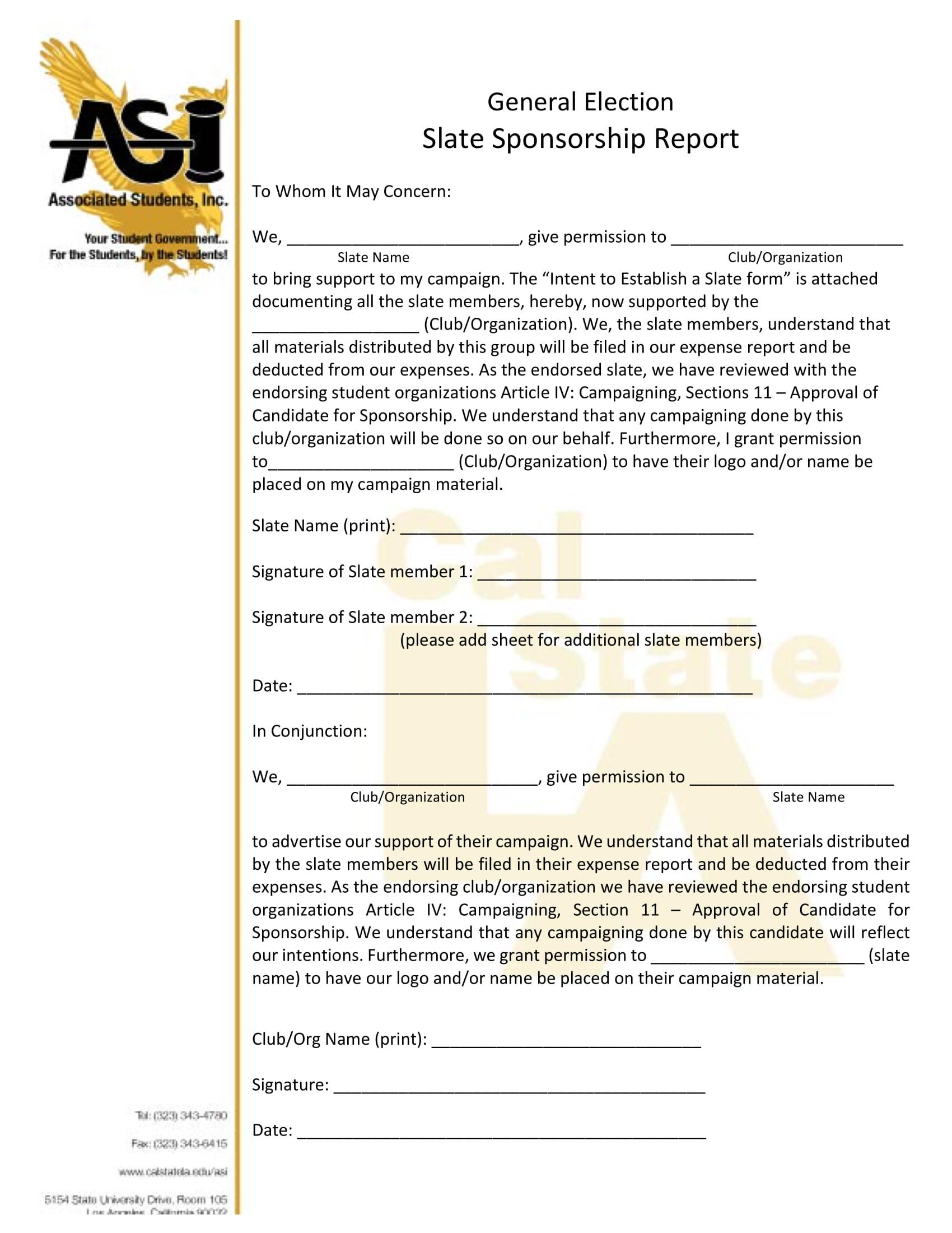 slate sponsorship report form 1