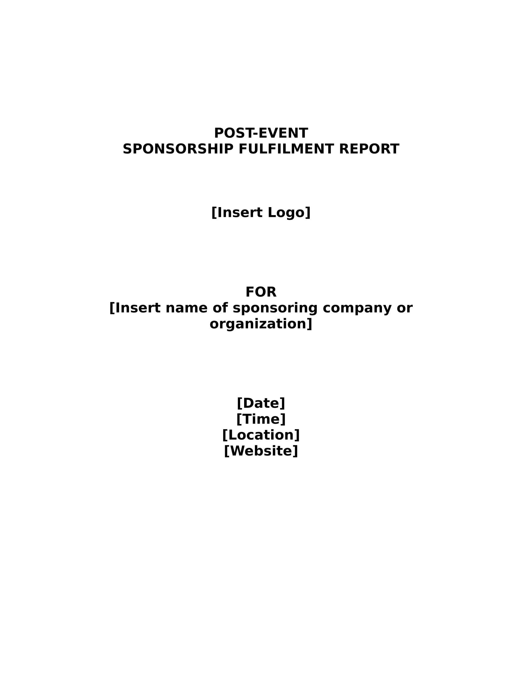 sponsorship fulfilment report 05