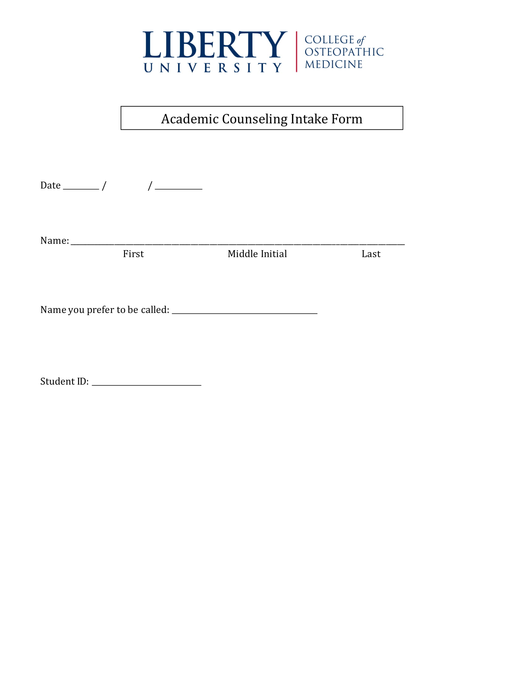 academic counseling intake form 1