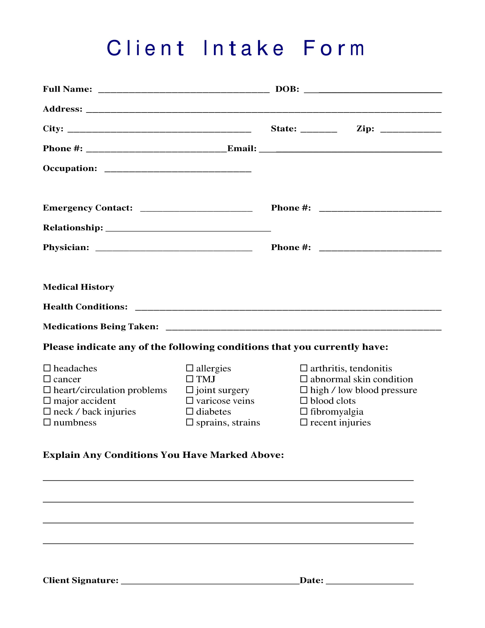 client intake form sample 1