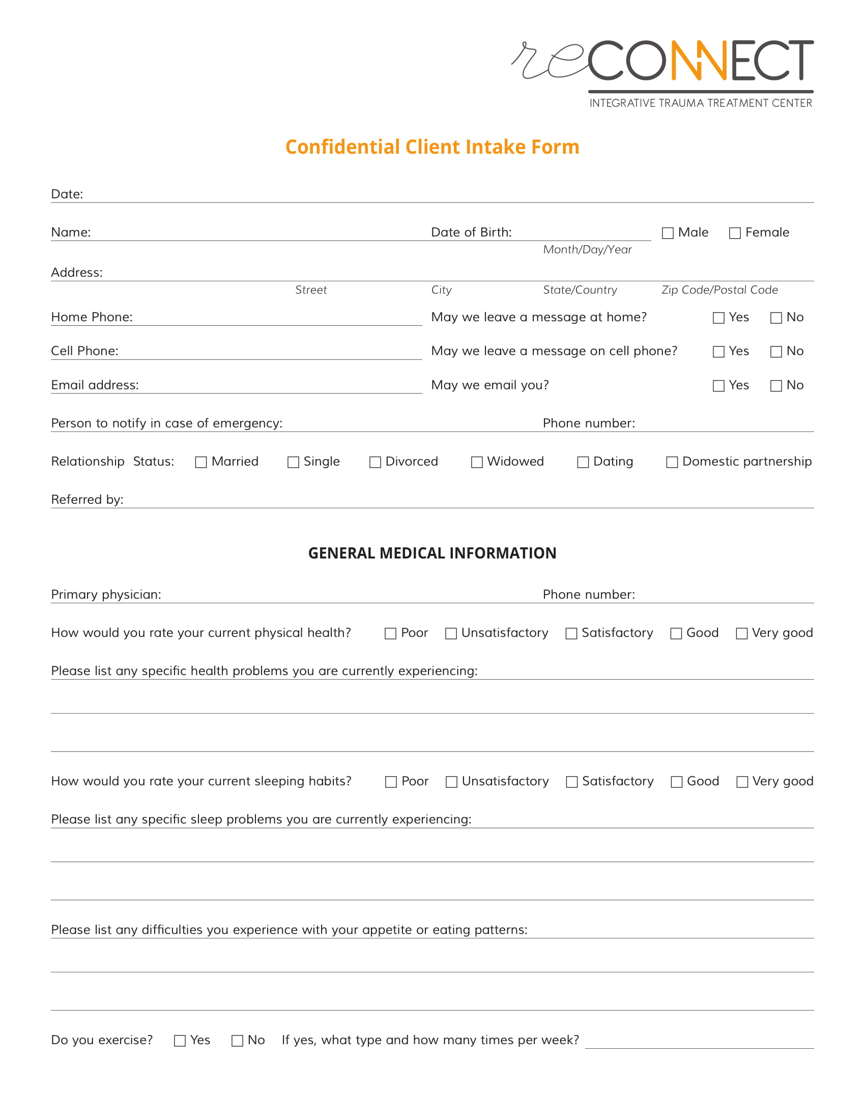 confidential client intake form 1