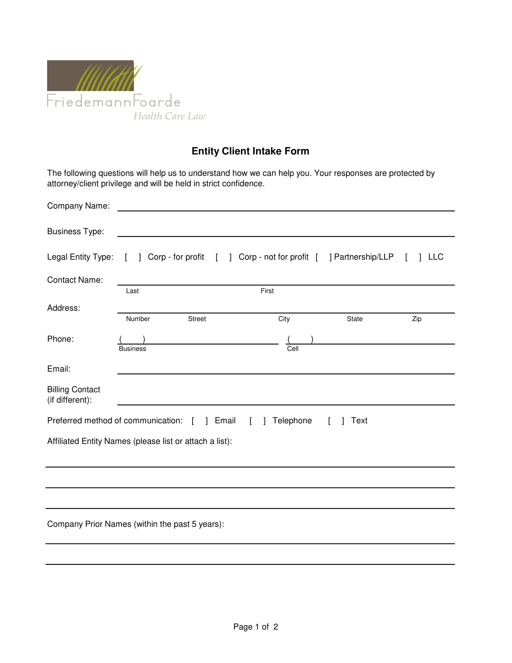 entity client intake form 1