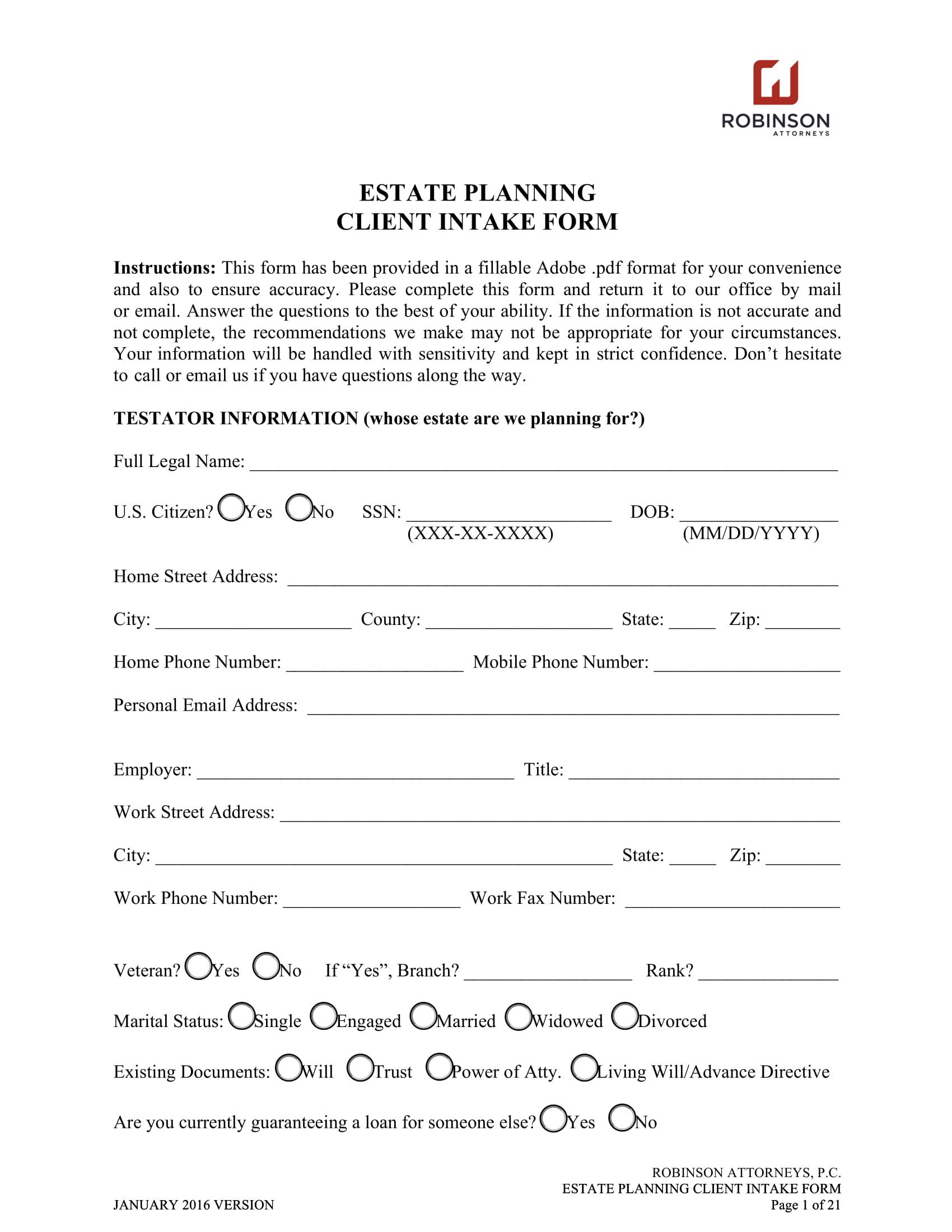 estate planning client intake form 01