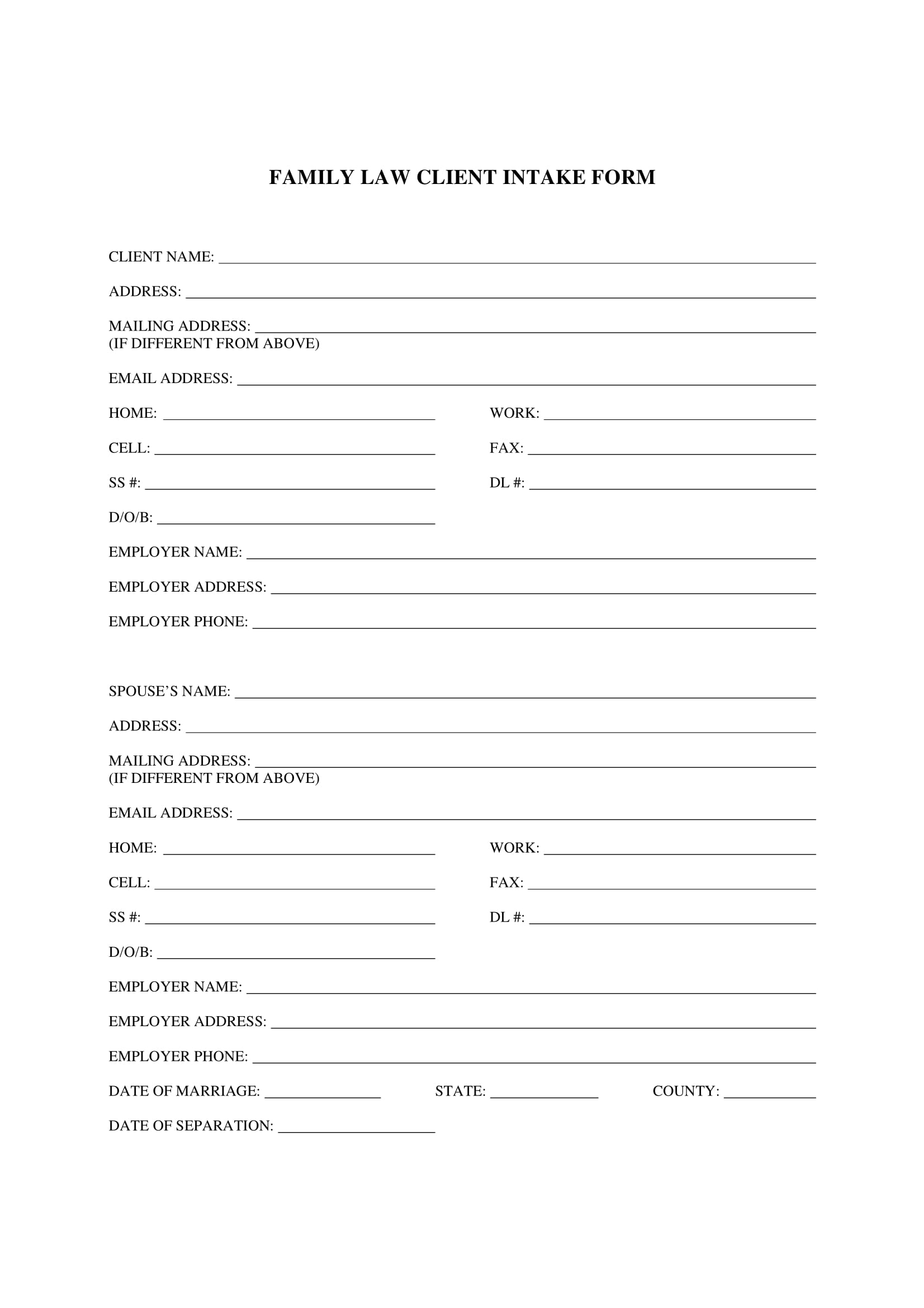 family law client intake form 1