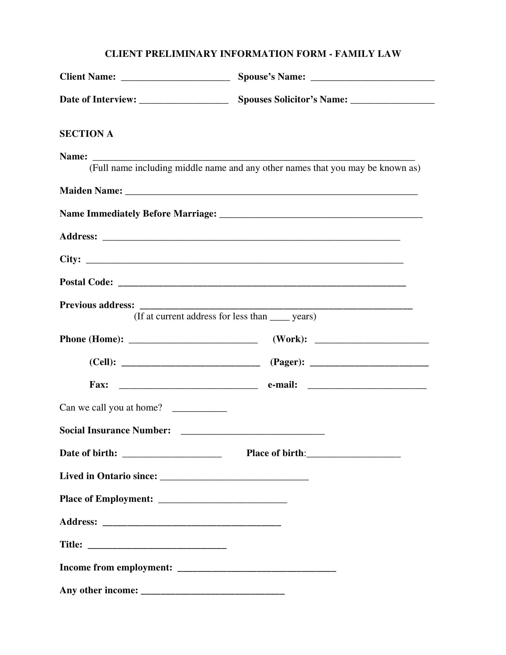 family law client preliminary intake form 1