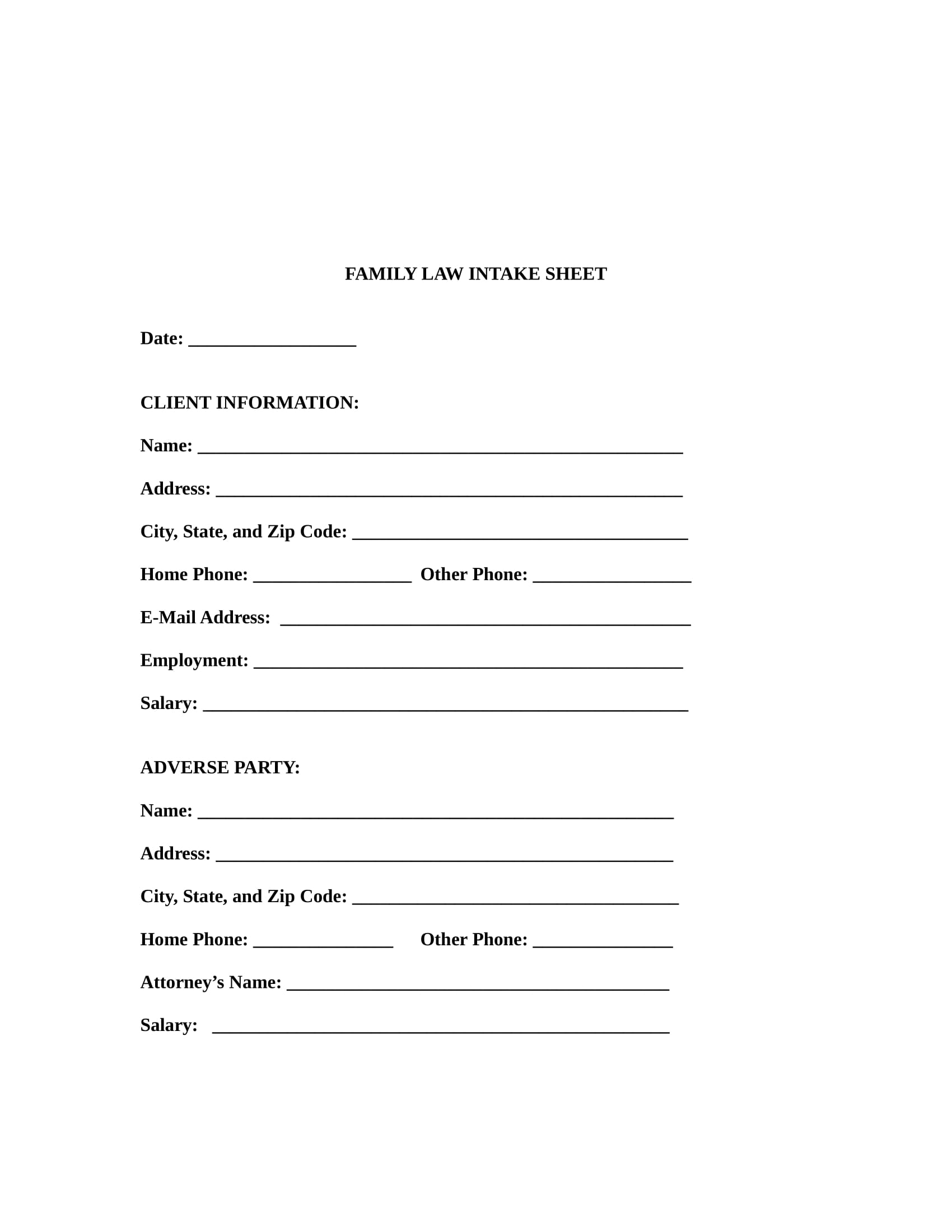 family law intake form in doc 1