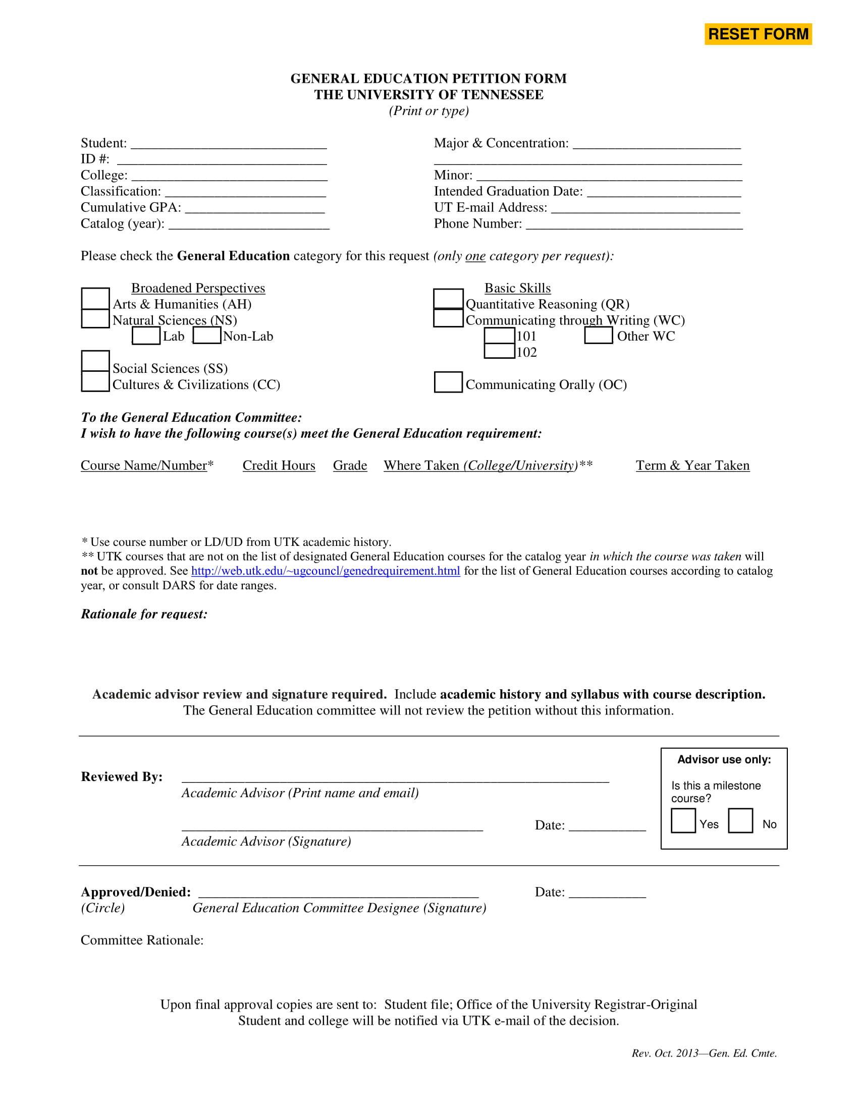 general education petition form 2