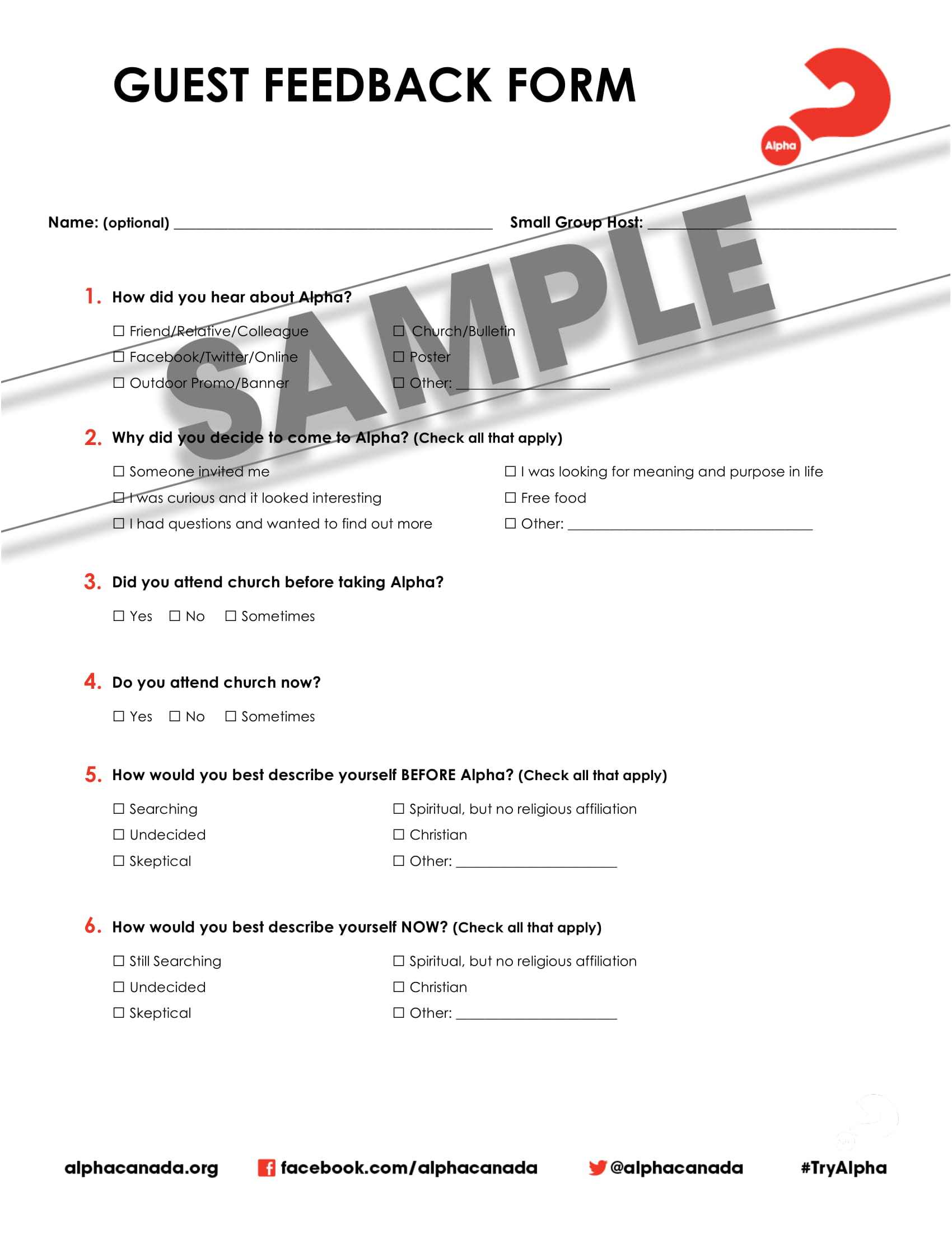 guest feedback form questionnaire 1