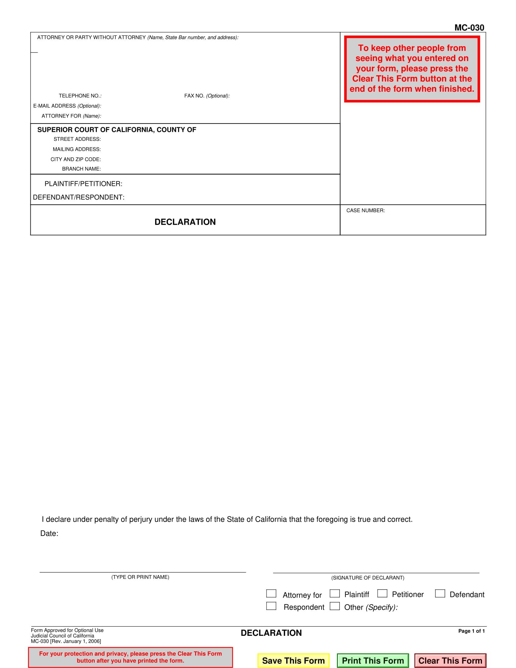 interactive legal declaration form 1