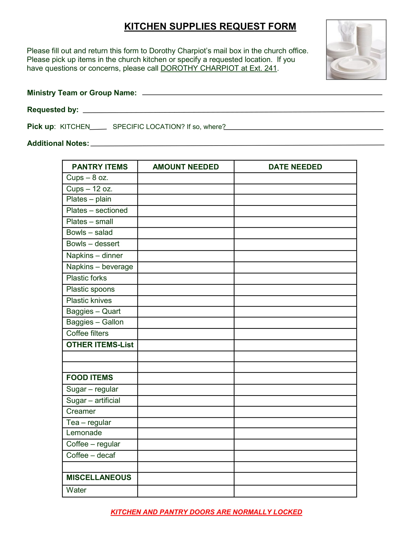 Free 5 Restaurant Requisition Forms Pdf