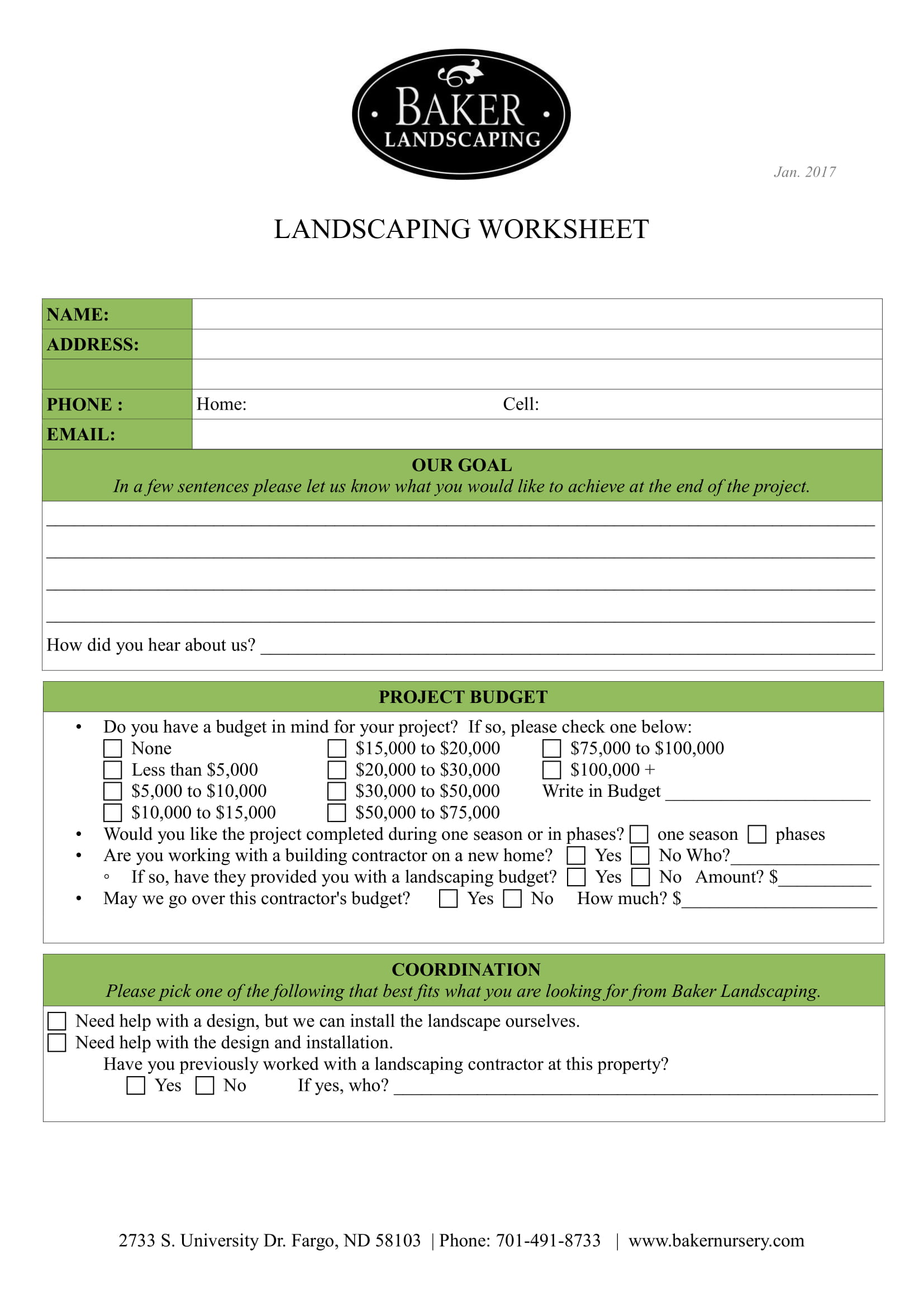 landscaping client intake form 1