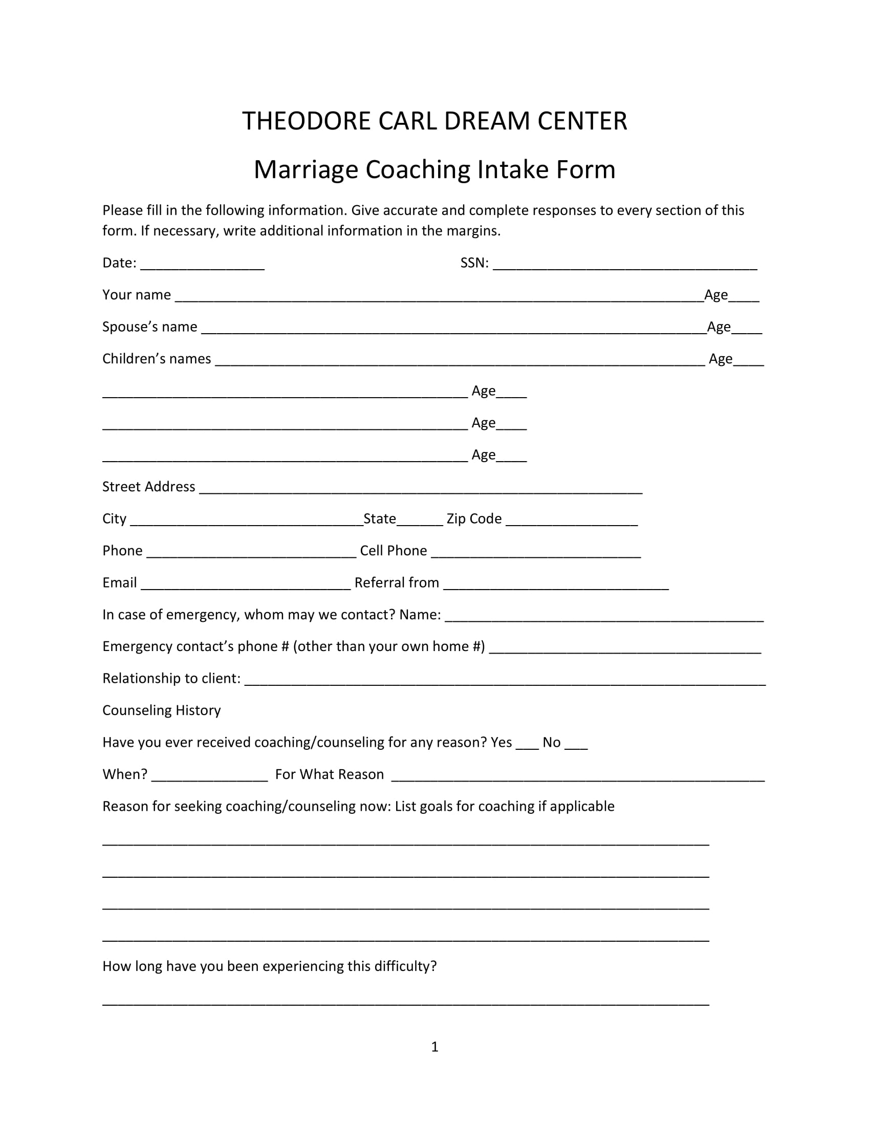 marriage coaching intake form 1