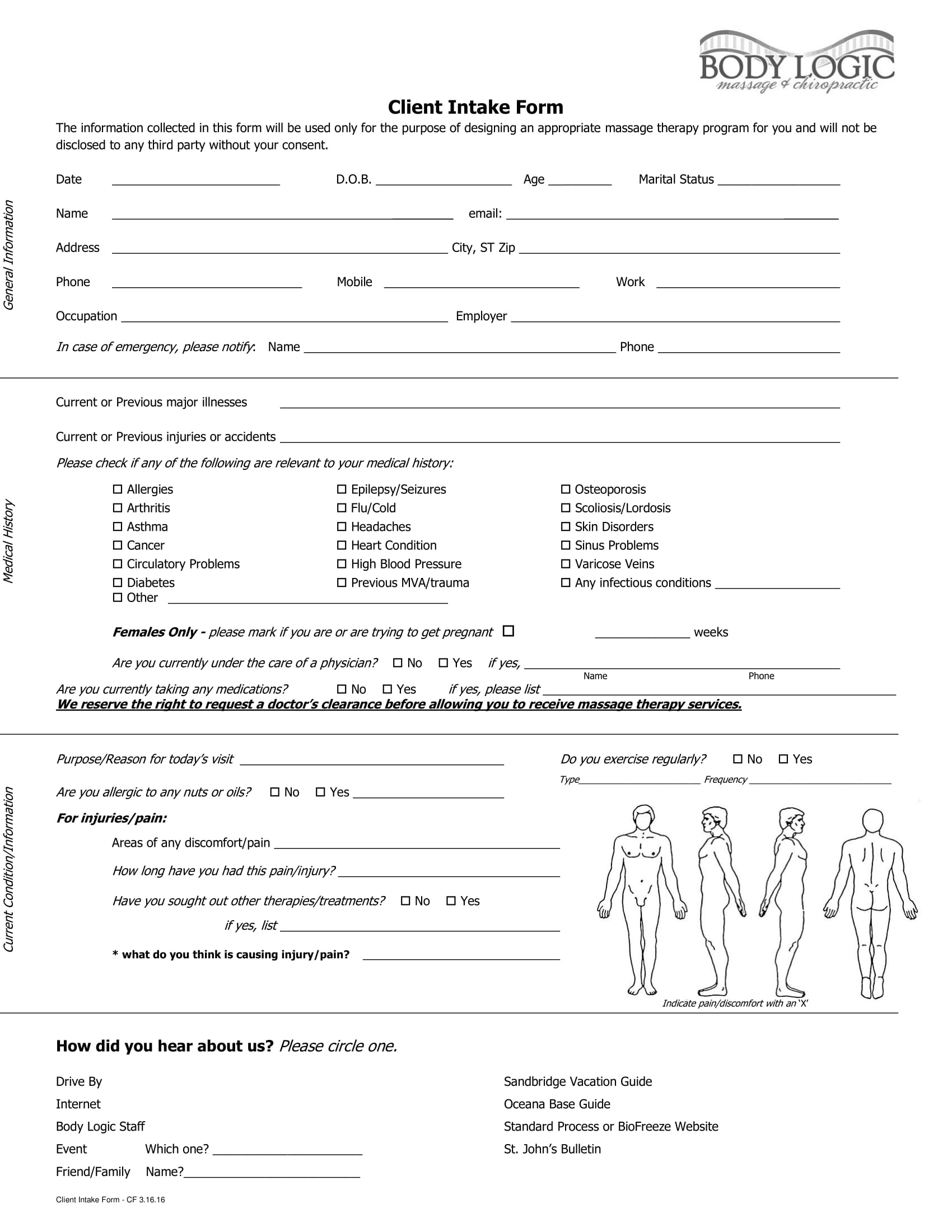 massage client intake form 1