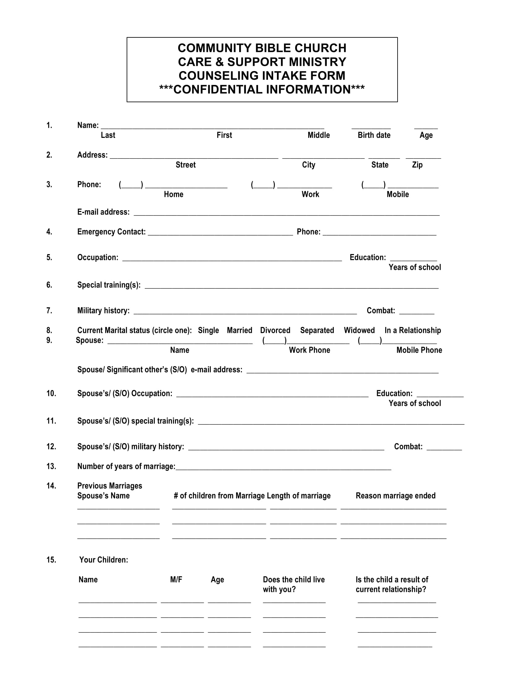 ministry counseling intake form 1