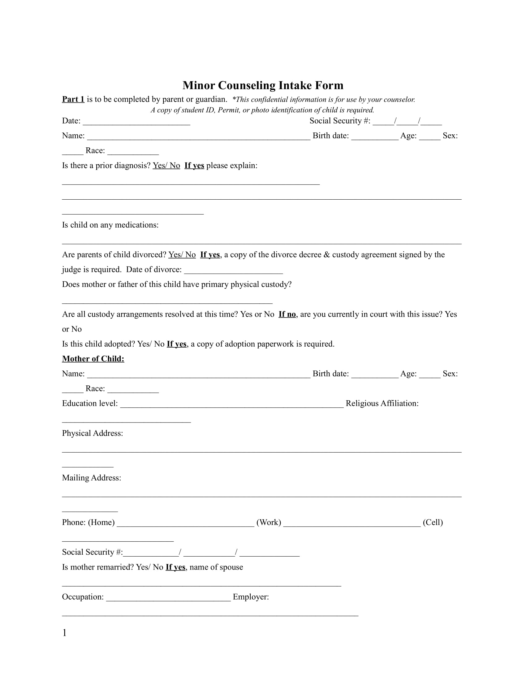 minor counseling intake form 1