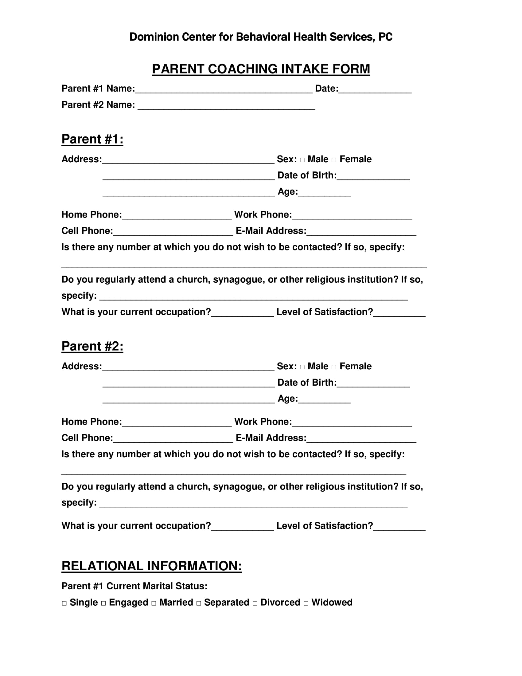 parent coaching intake form 1