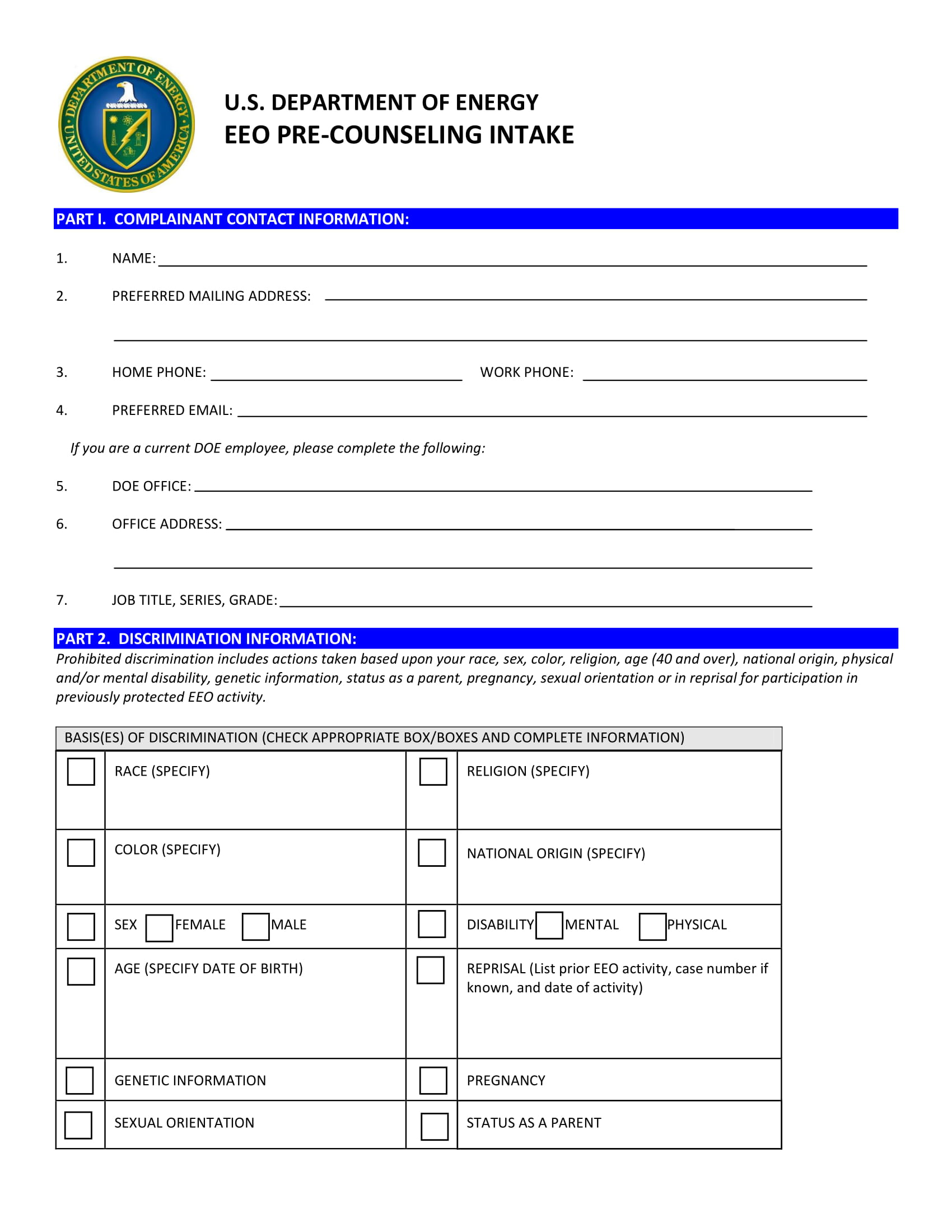 pre counseling intake form 1