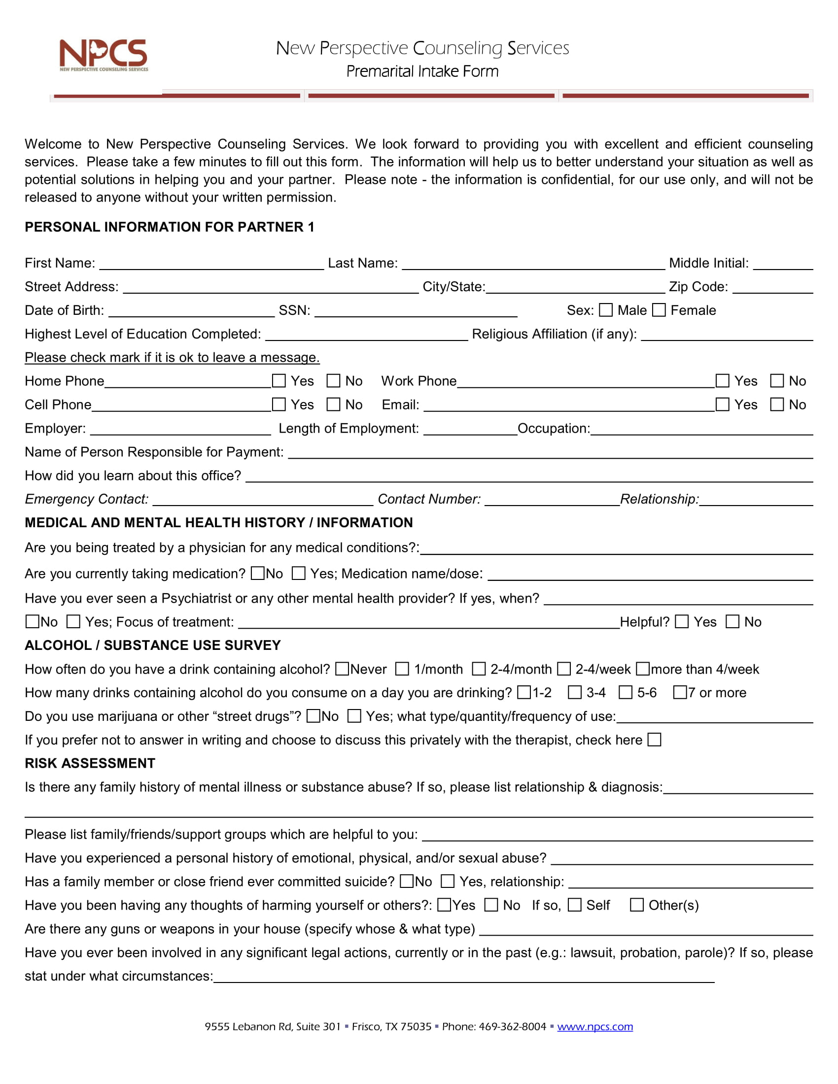premarital counseling intake form 1