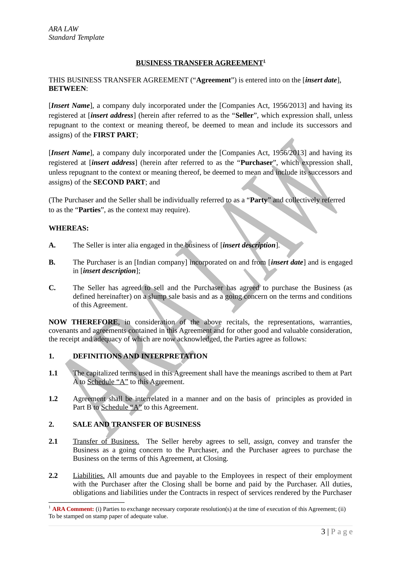 FREE 4+ Restaurant Transfer of Ownership Forms in PDF | DOC