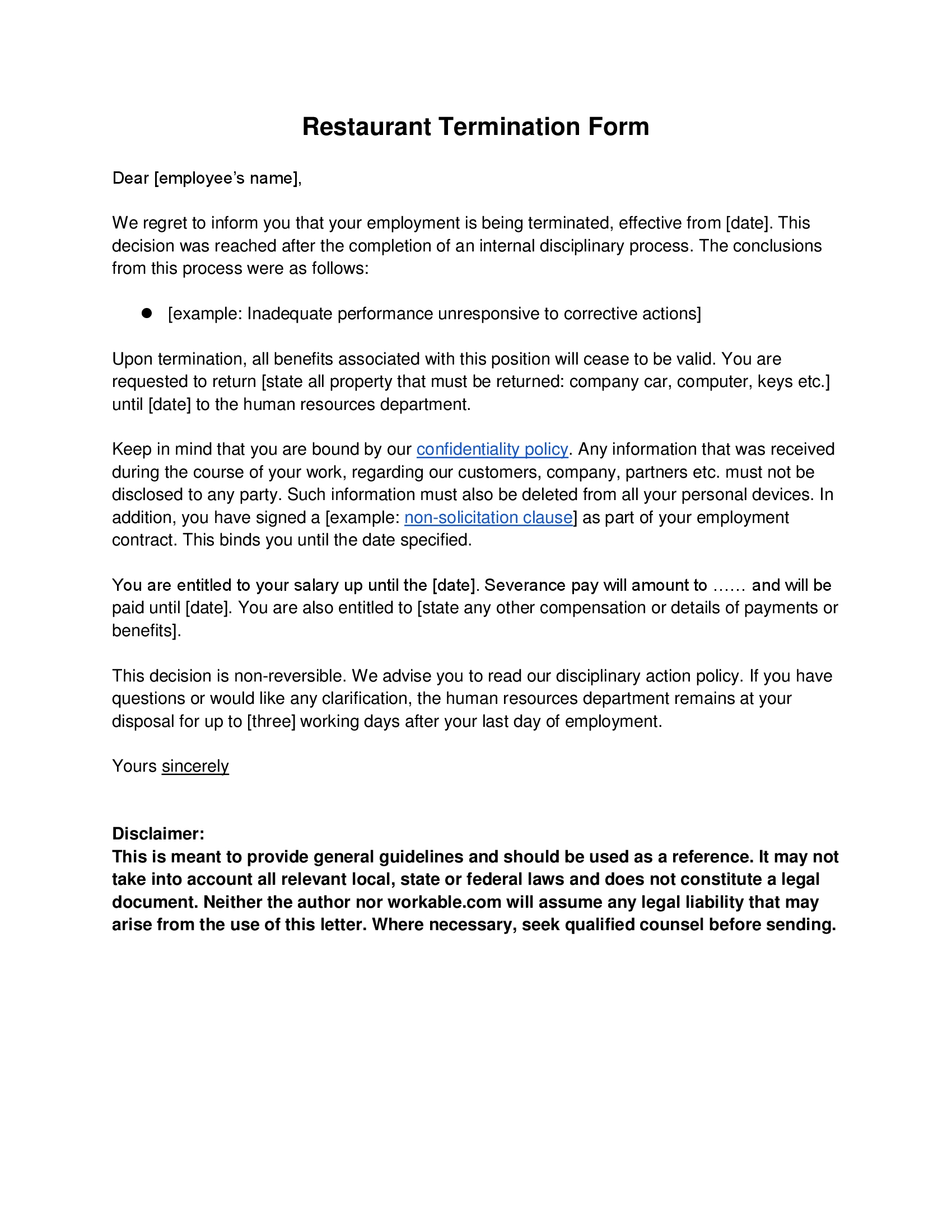 Sample Layoff Letter To Employees from images.sampleforms.com