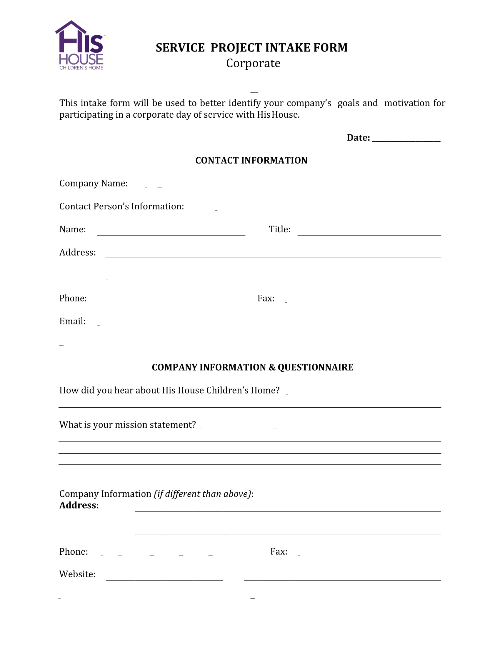 service project intake form 1