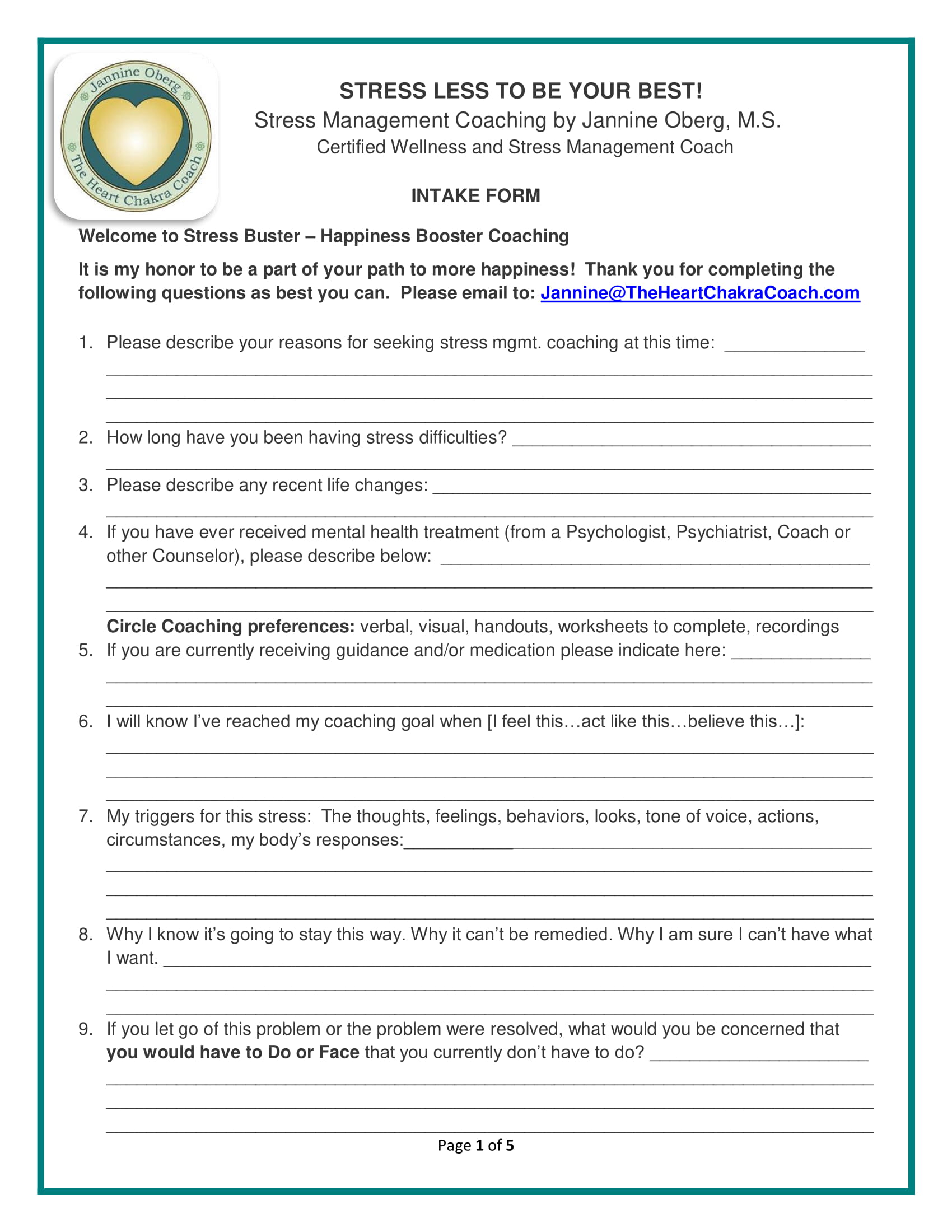 stress coaching intake form 1