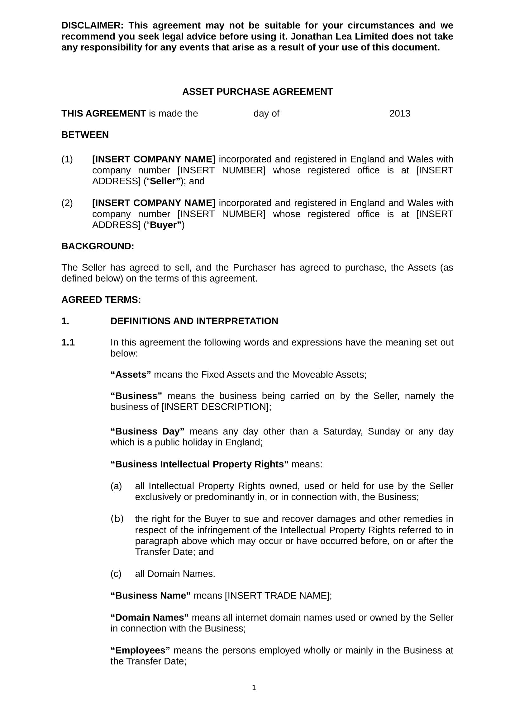 Asset agreement image collections agreement letter format asset purchase agreement images agreement letter format 5 asset purchase agreement contract forms pdf doc asset platinumwayz