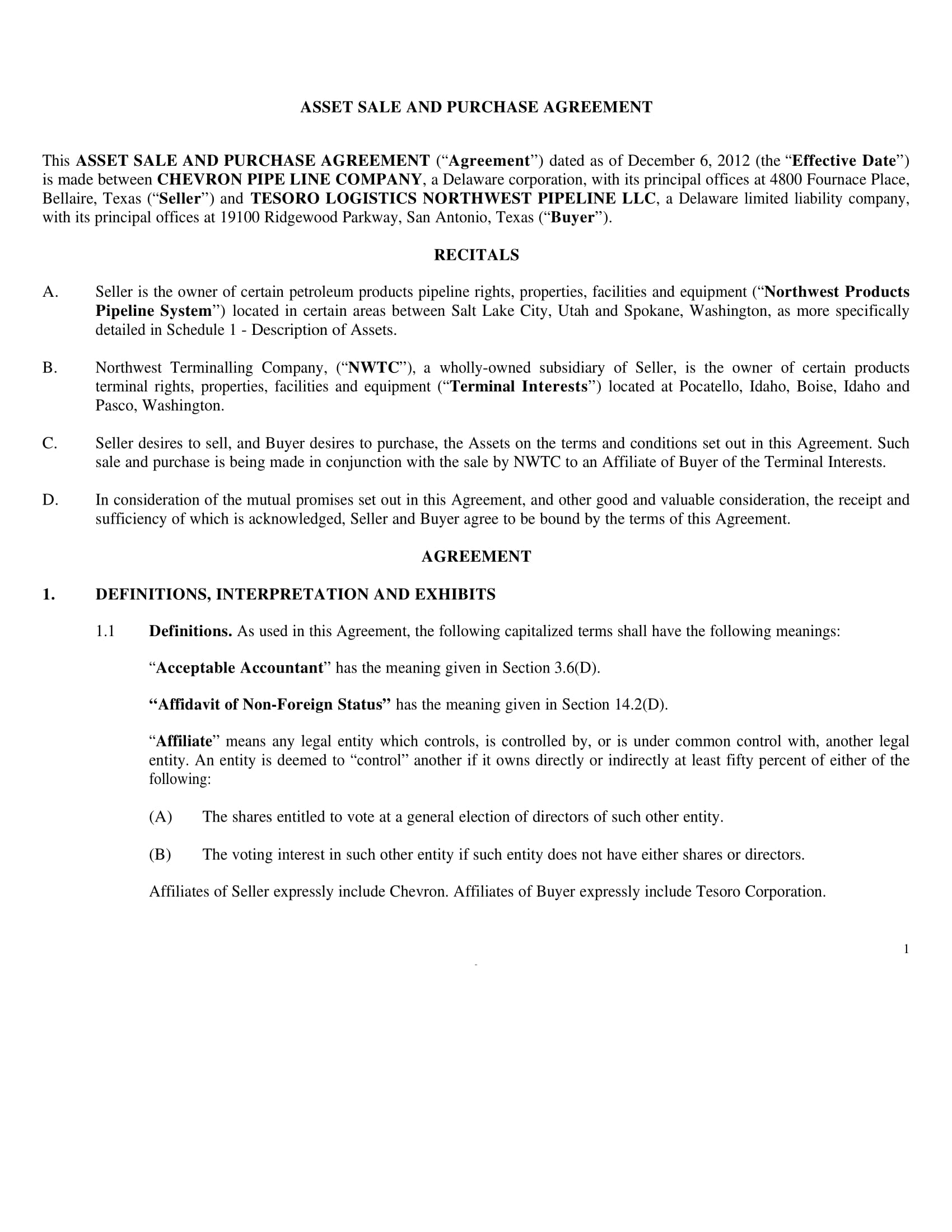 asset sale and purchase agreement form 04