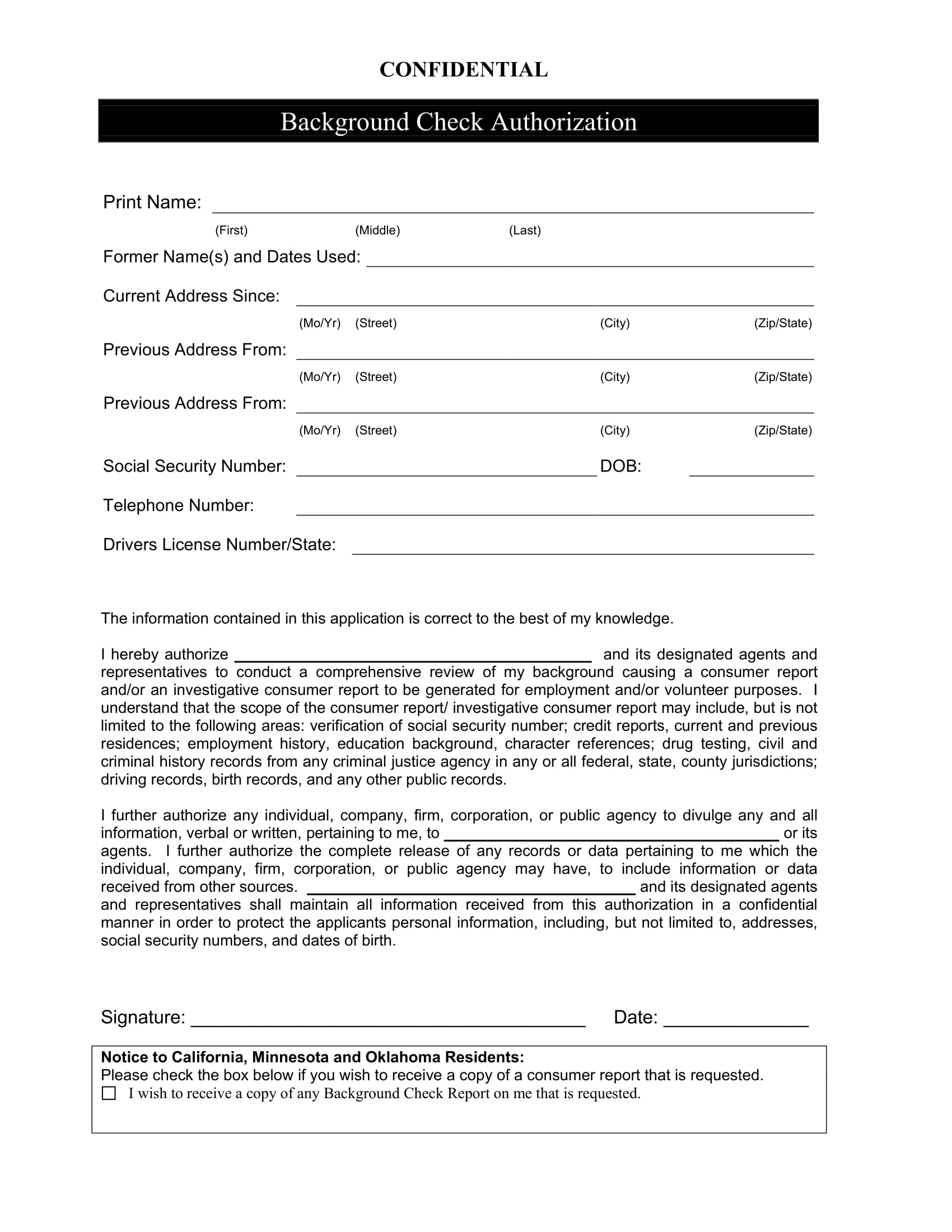 background check clearance form 1