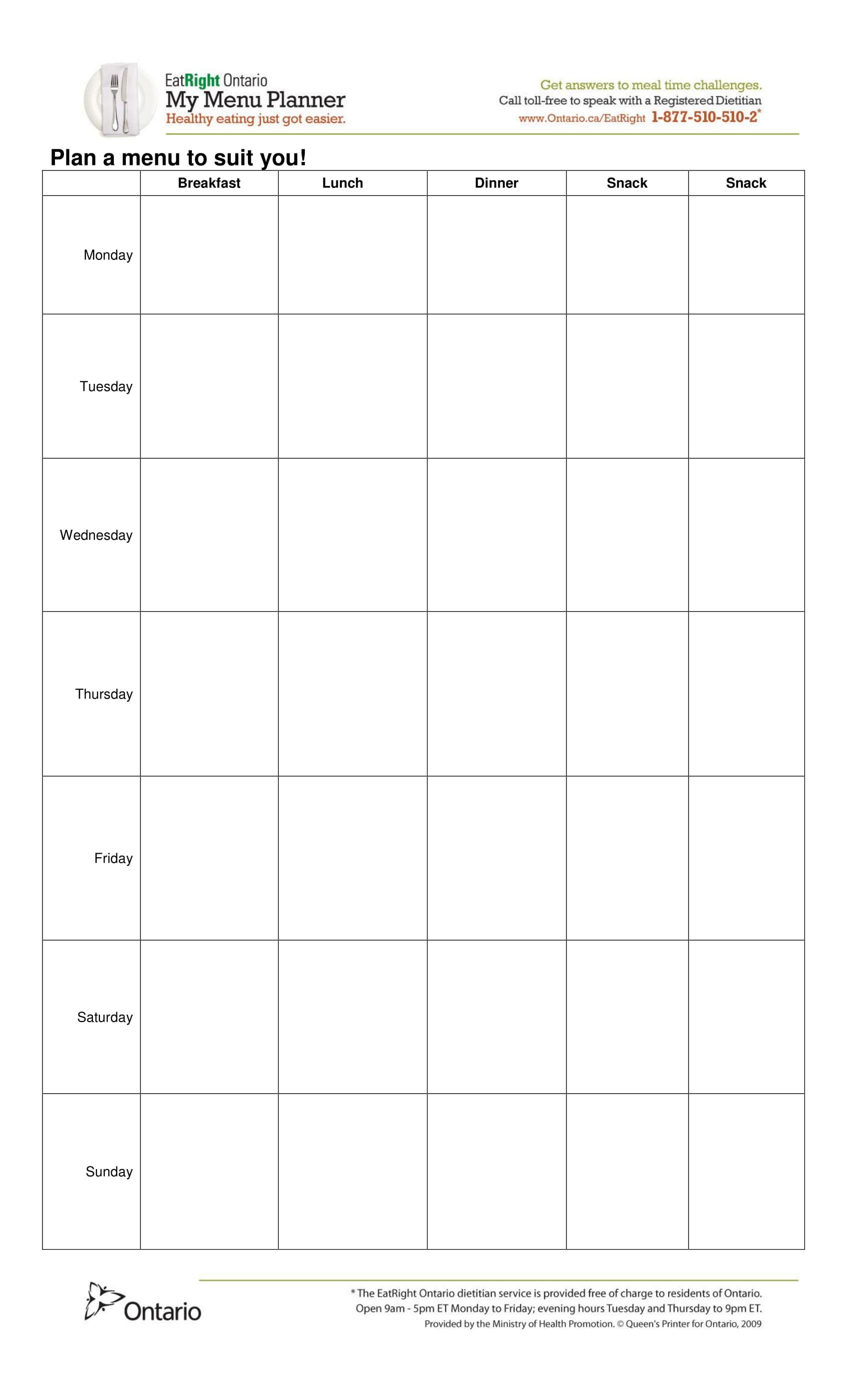 29 menu forms pdf doc