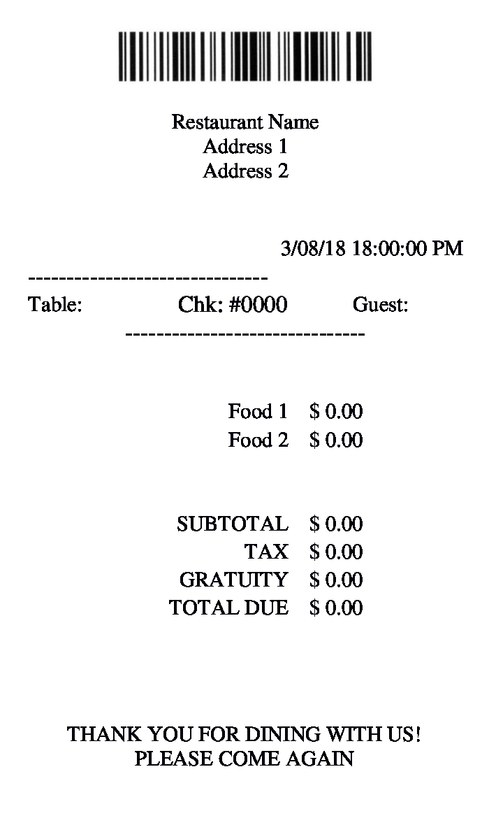free 9  restaurant receipt forms in pdf