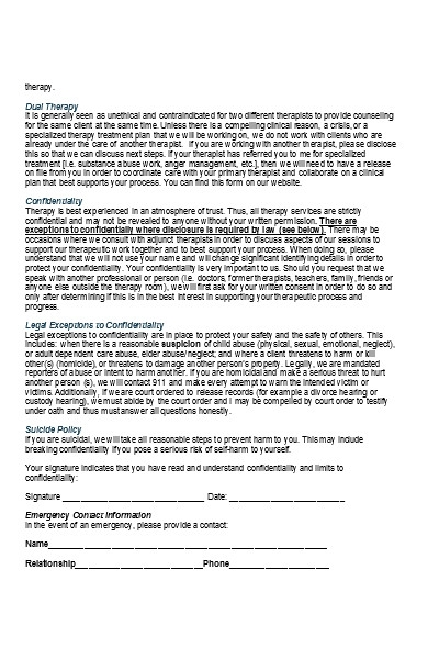 client psychotherapy intake form
