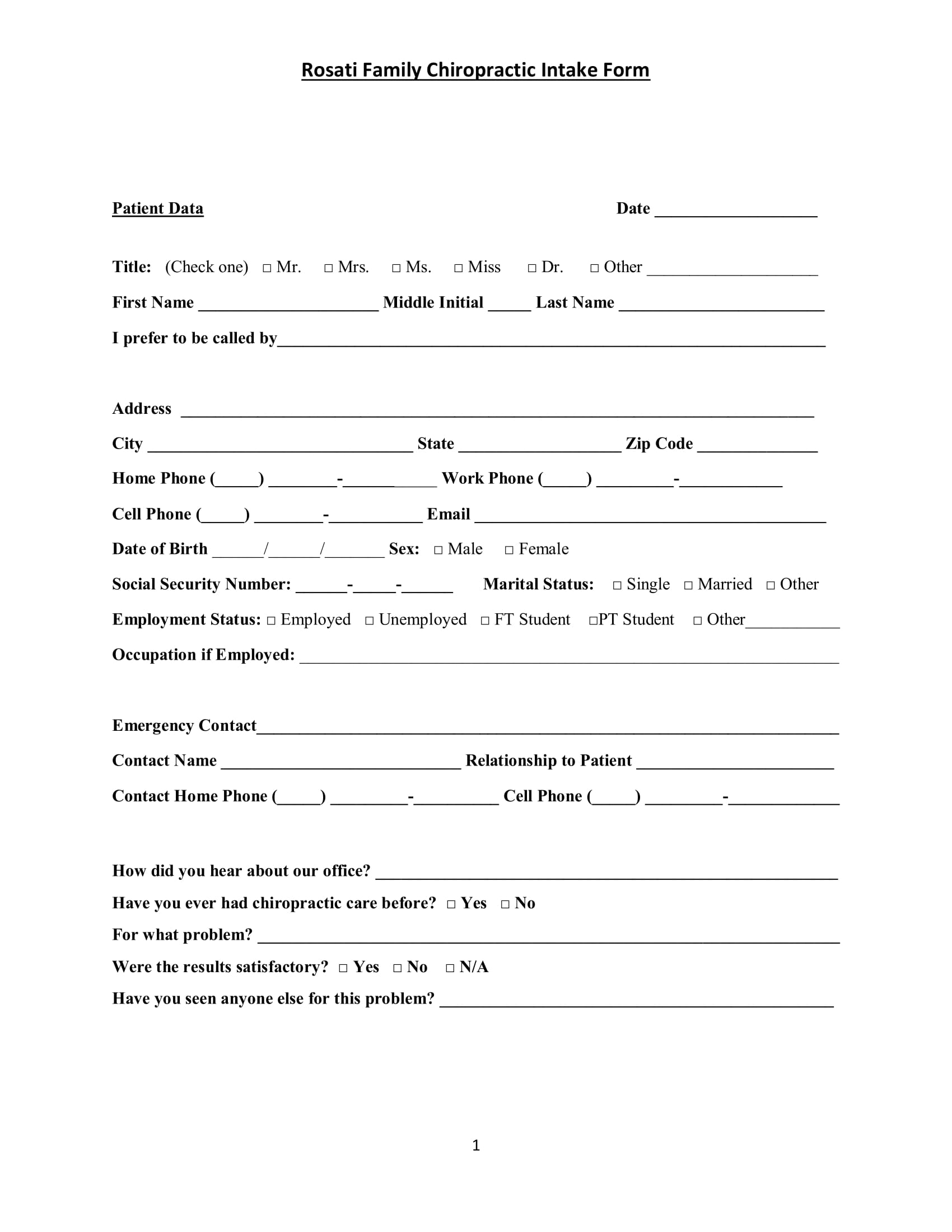 family chiropractic intake form 01