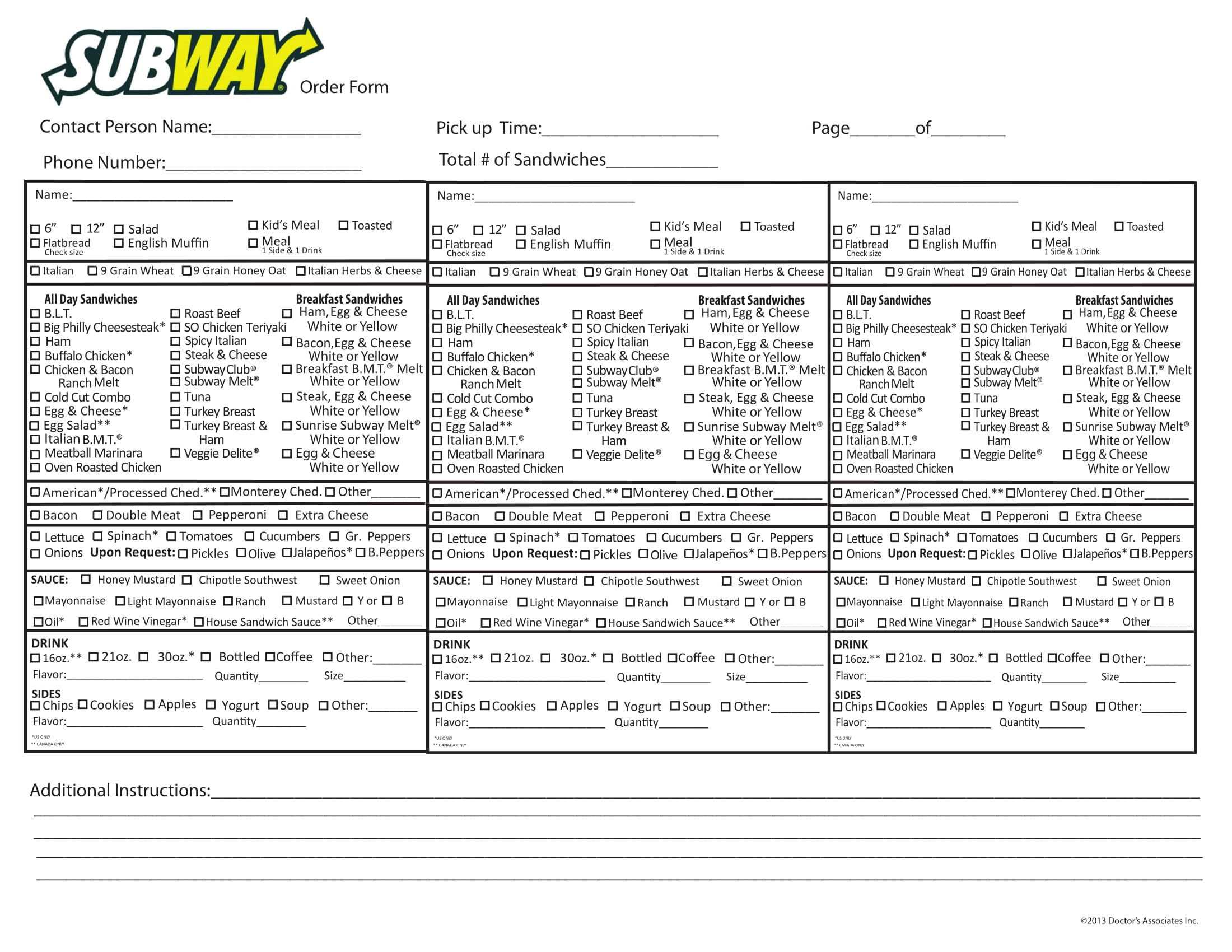 photograph regarding Subway Menu Printable referred to as Absolutely free 29+ Menu Types inside PDF Document