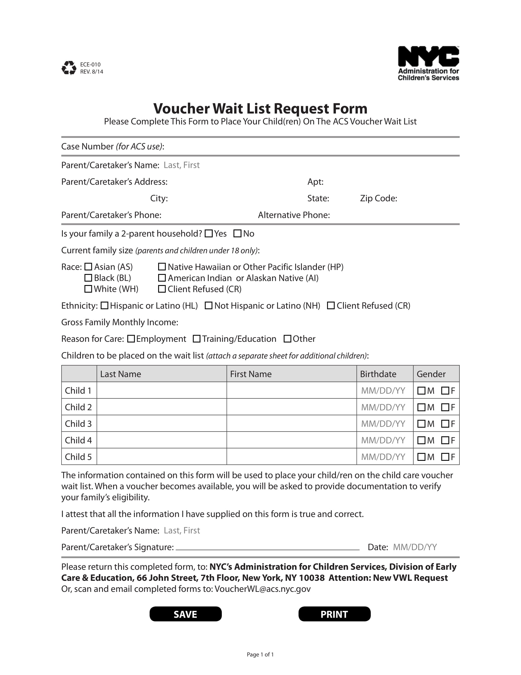 voucher wait list request form 11