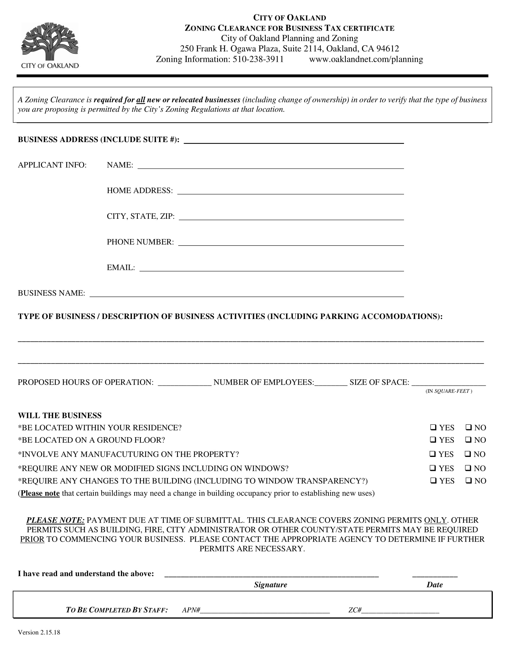 Zoning-Clearance-Form-1 Legal Employment Application Form on namibia government, free printable blank, mra examples, free construction, dental assistant,