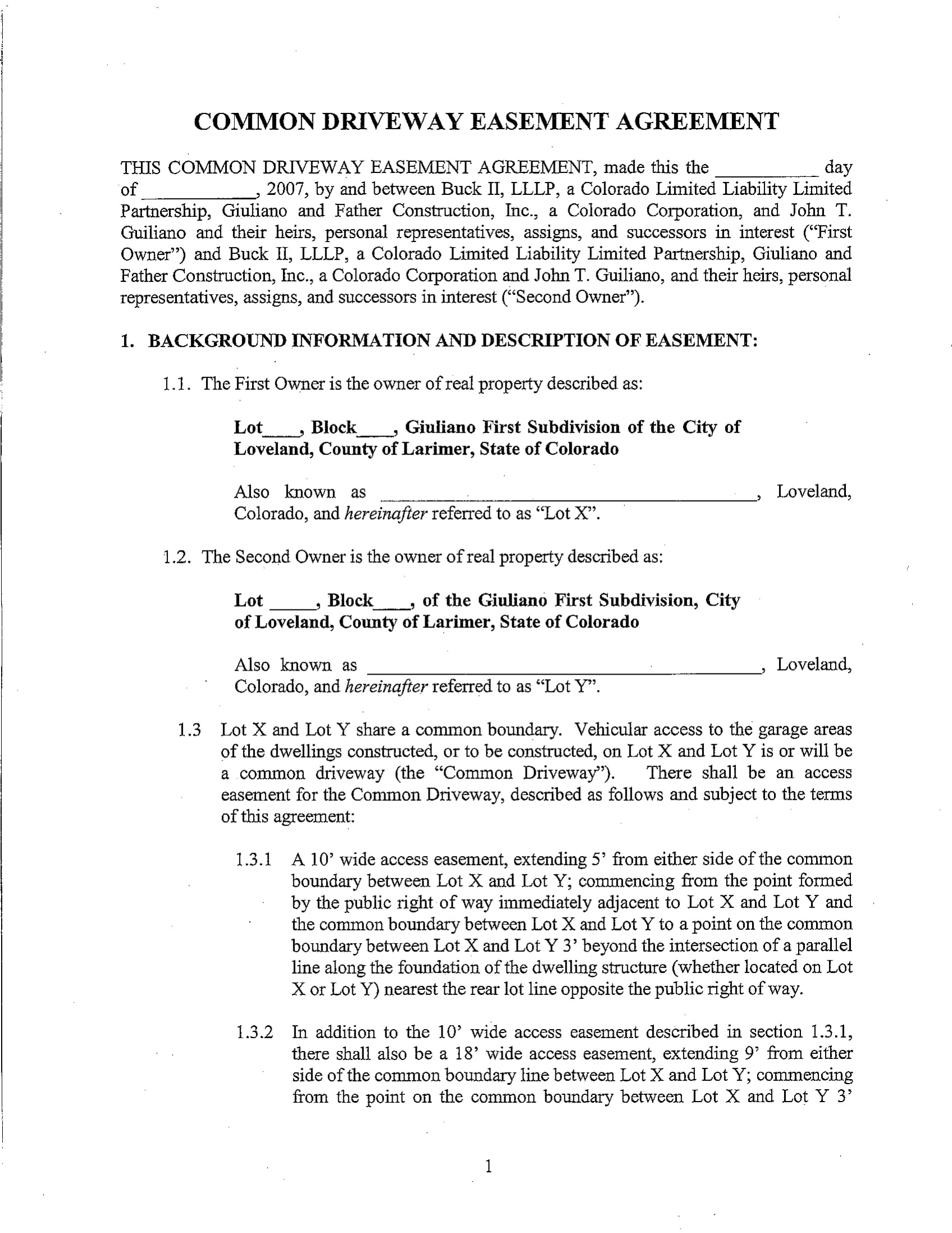 10 Easement Agreement Contract Forms Pdf