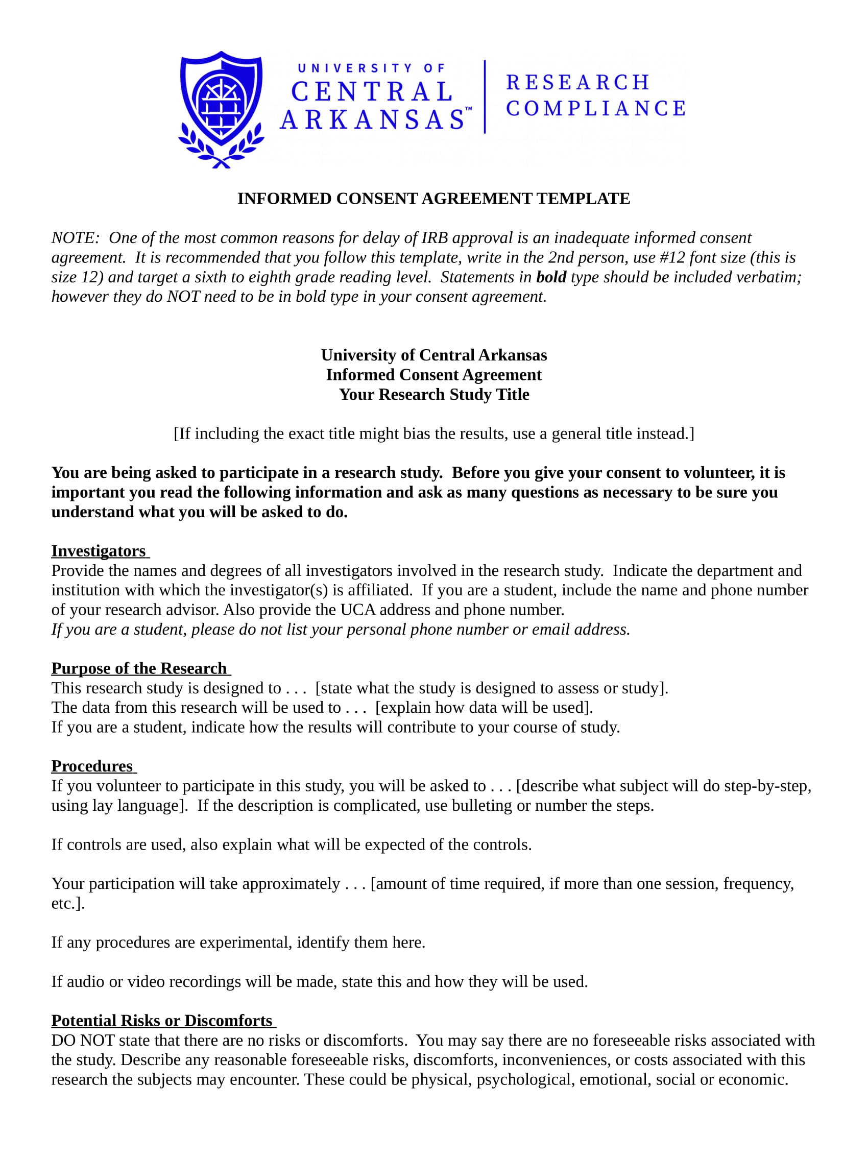 informed consent agreement contract form in doc 1